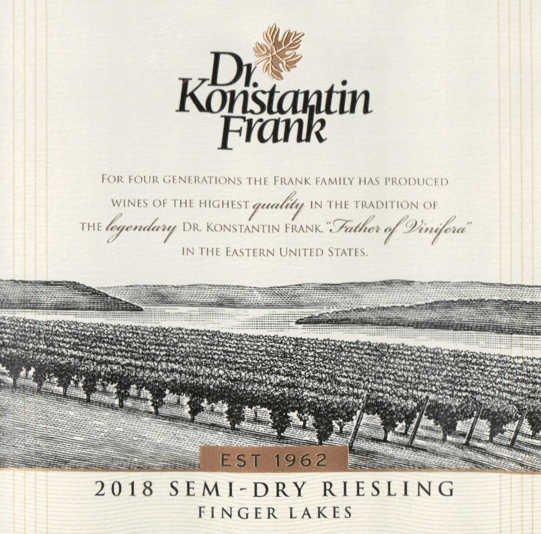 Dr. Konstantin Frank Semi Dry Riesling 2018