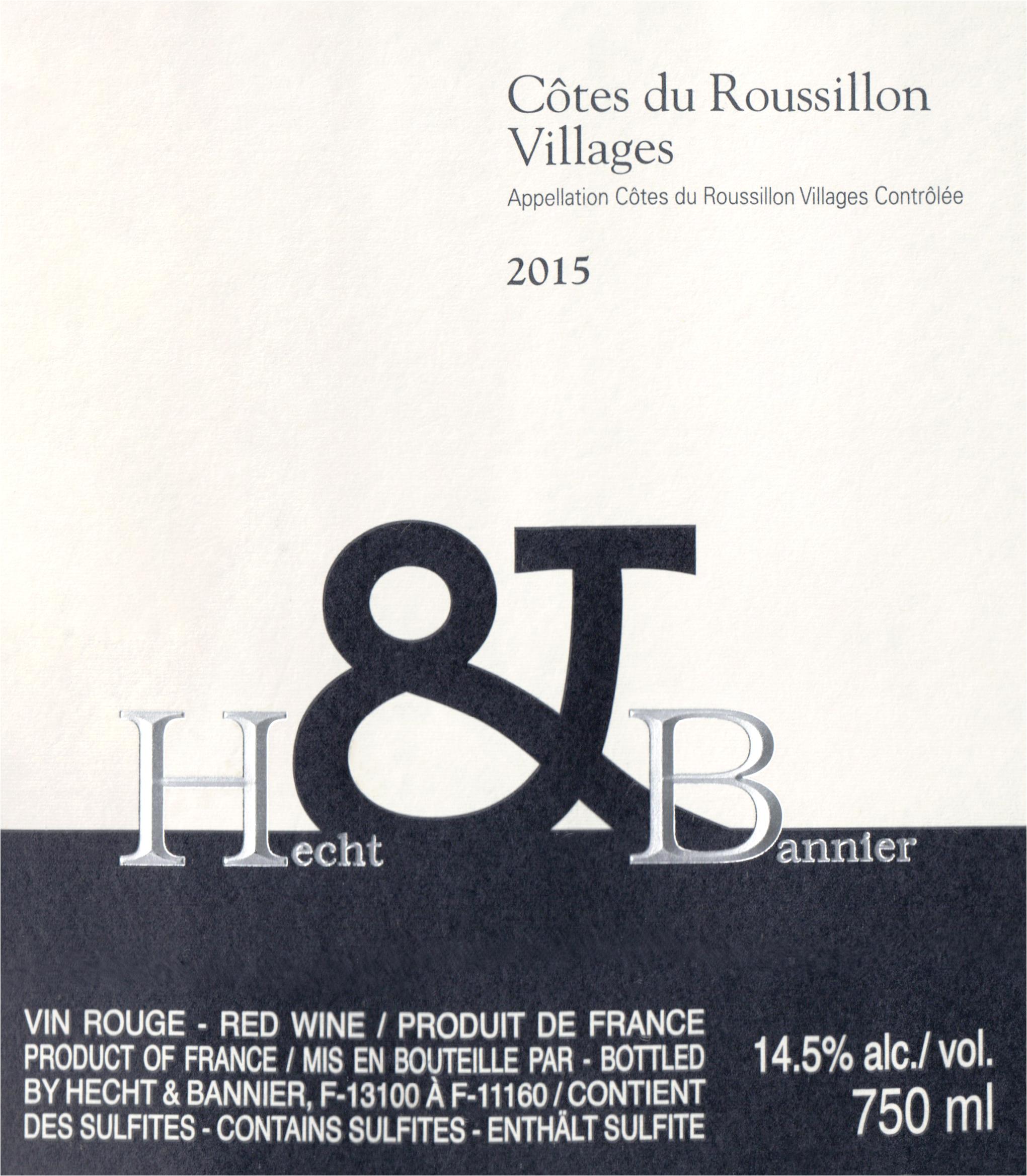 Hecht And Bannier Cotes Du Roussillon Villages 2015