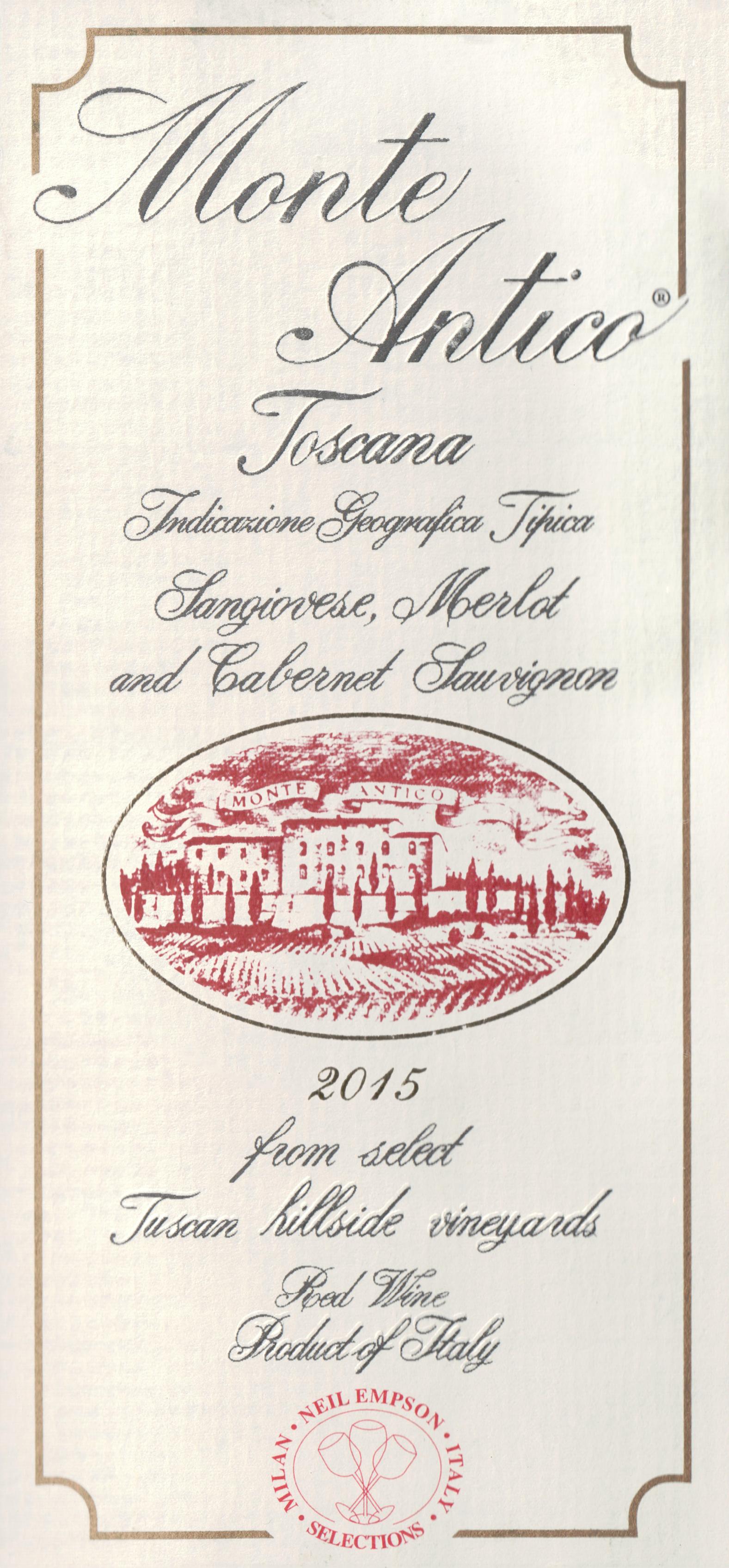 Monte Antico Rosso Toscana 2015
