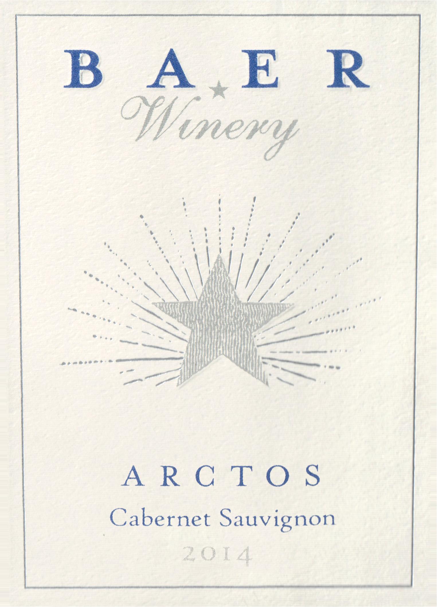 Baer Winery Arctos Stillwater Creek Vineyard 2014