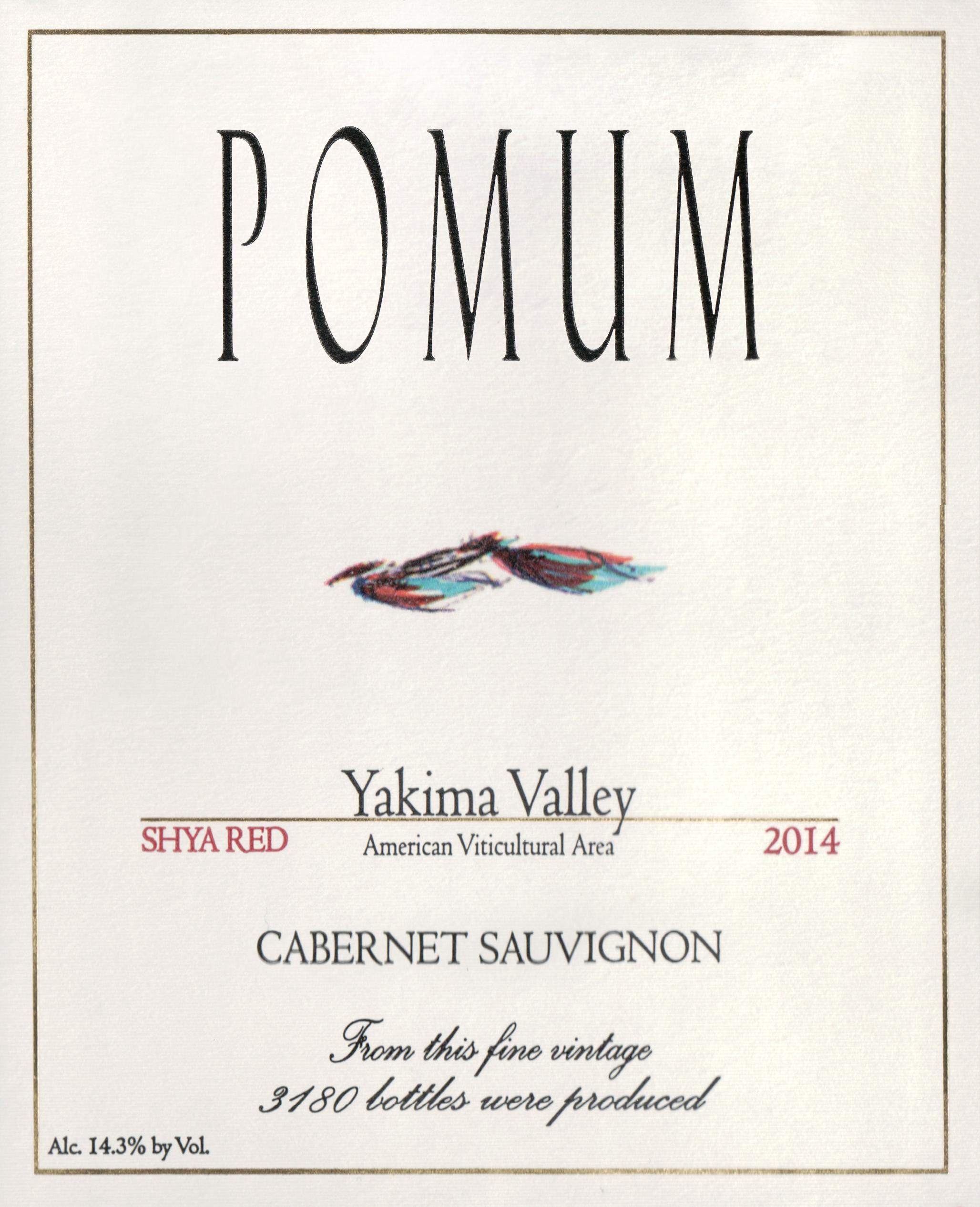 Pomum Cellars Shya Red Cabernet 2014