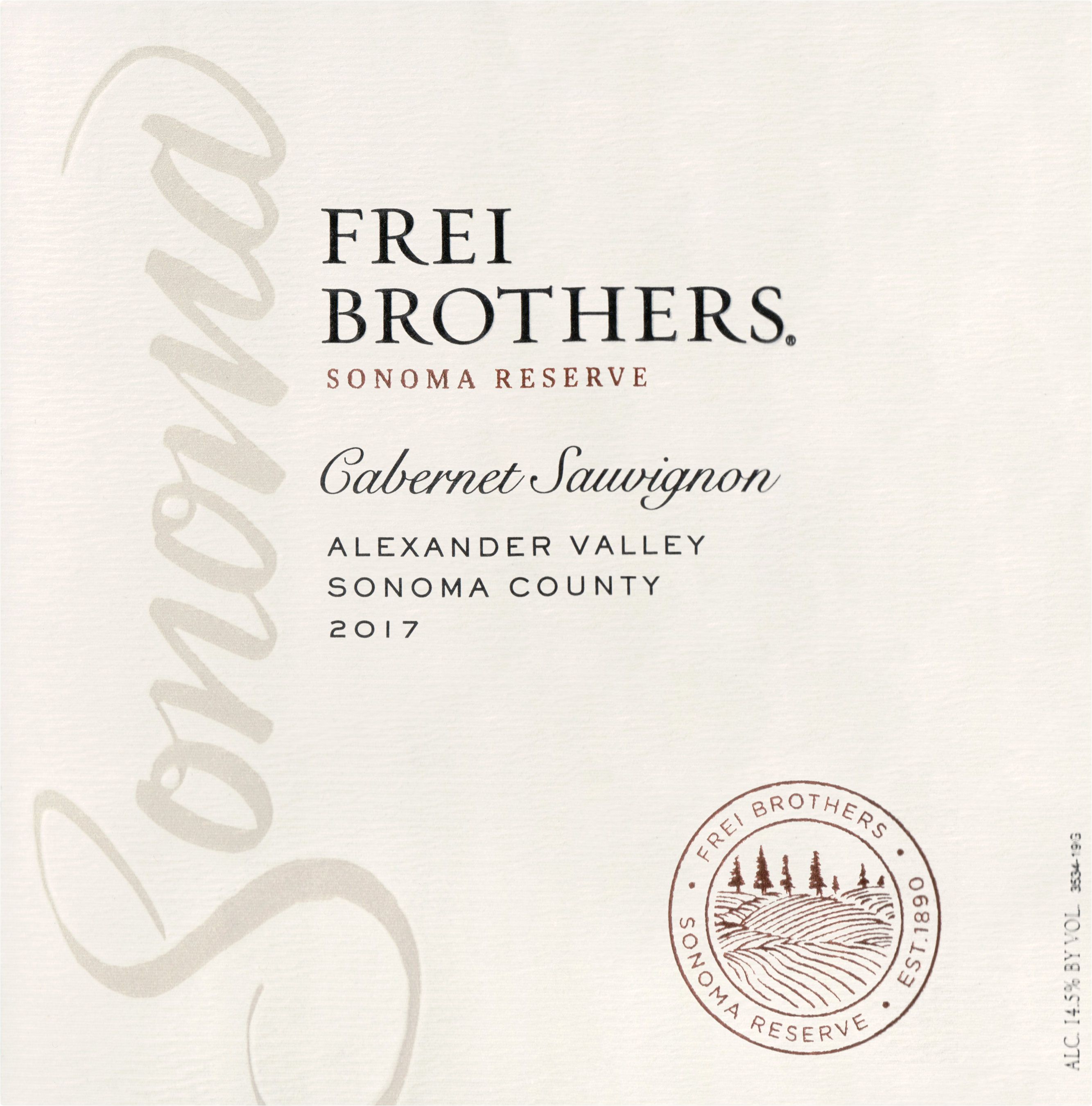 Frei Brothers Cabernet Sauvignon Alexander Valley 2017