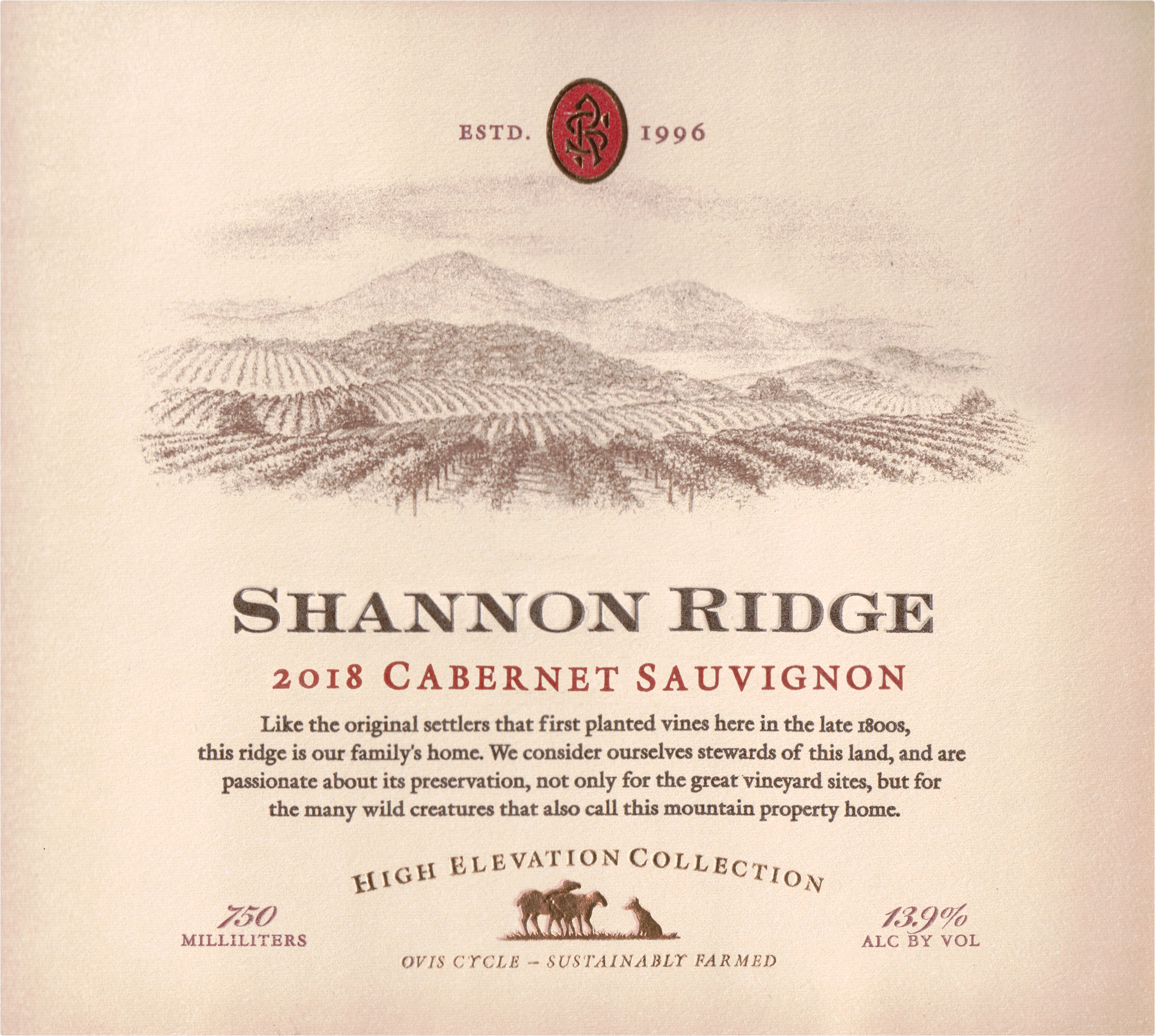 Shannon Ridge High Elevation Cabernet Sauvignon 2018