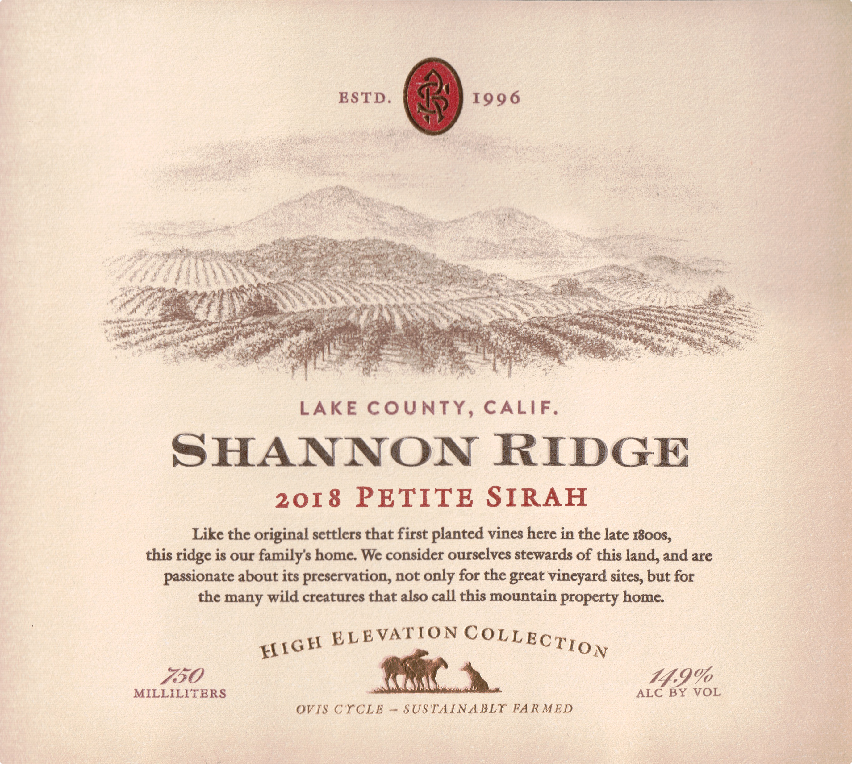 Shannon Ridge High Elevation Collection Petite Sirah 2018