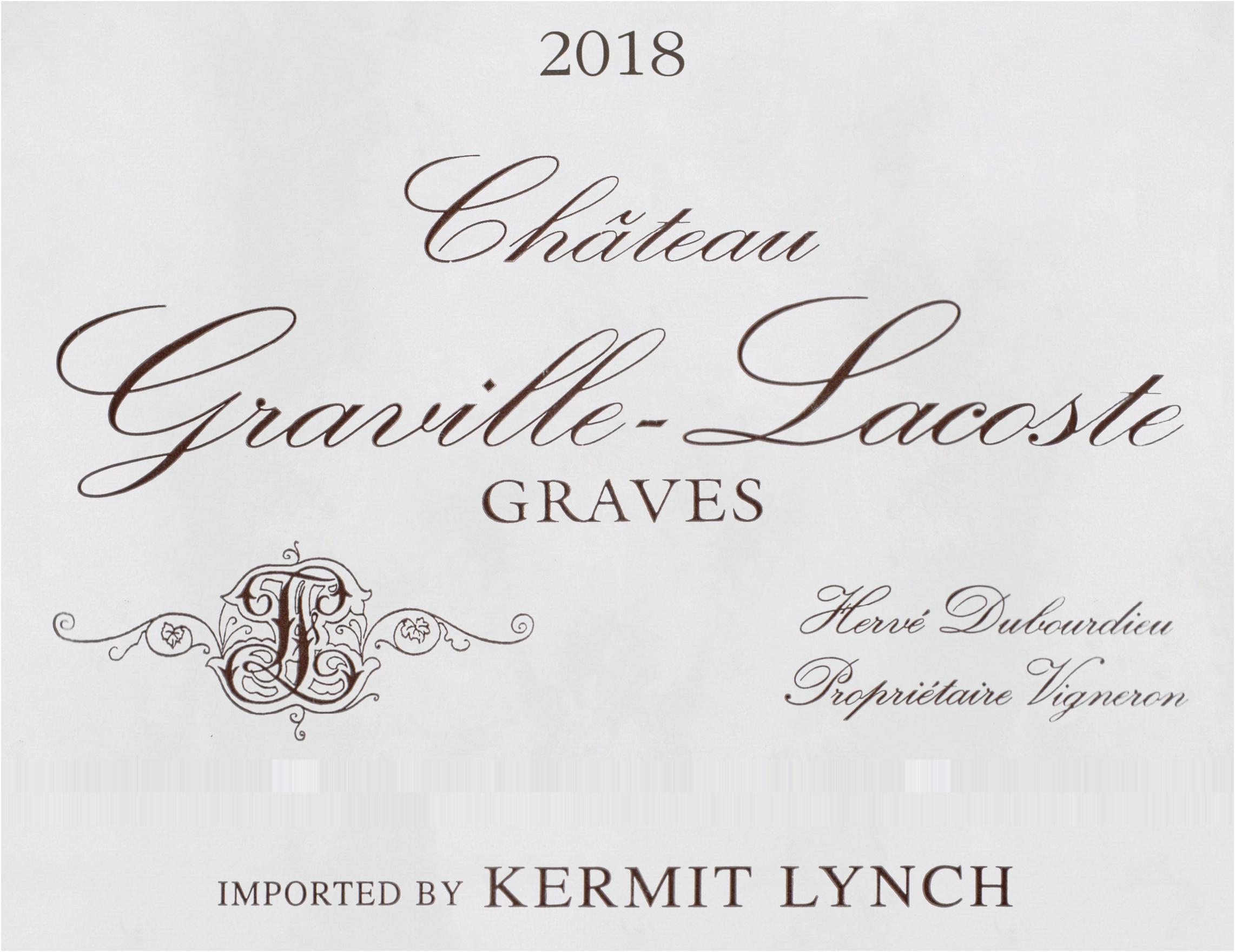 Chateau Graville Lacoste Graves Blanc 2018