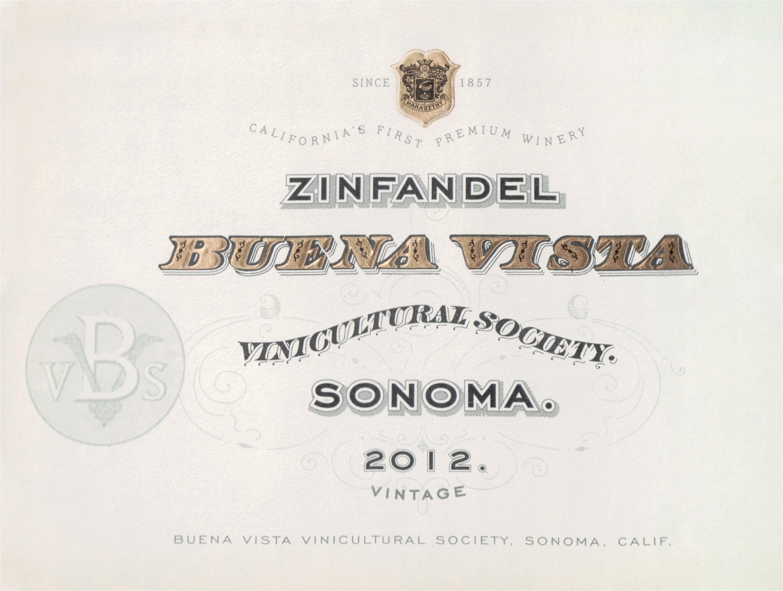 Buena Vista Sonoma Zinfandel 2012
