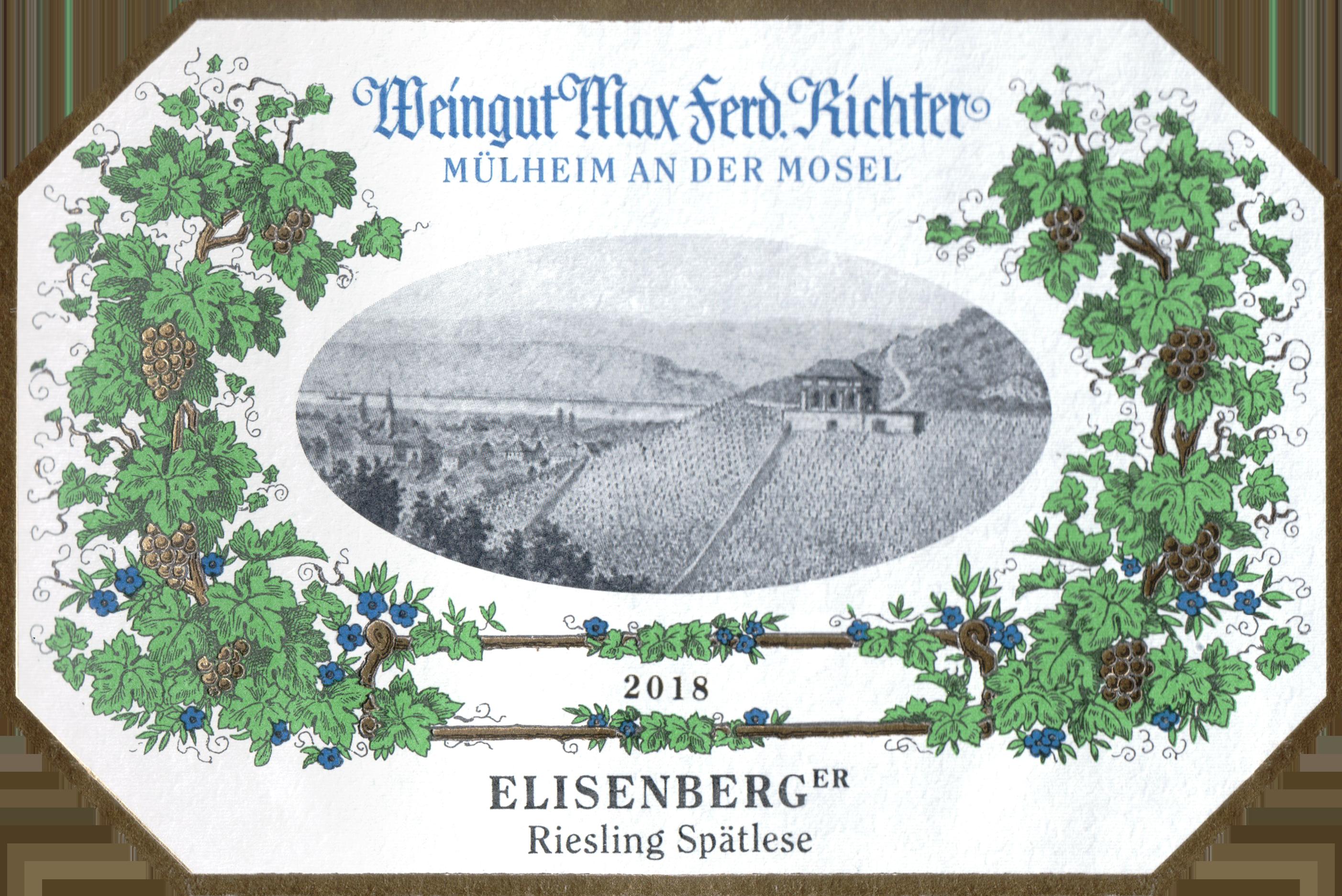 Max Ferd Richter Spatlese Veldenzer Elisenberg Riesling 2018