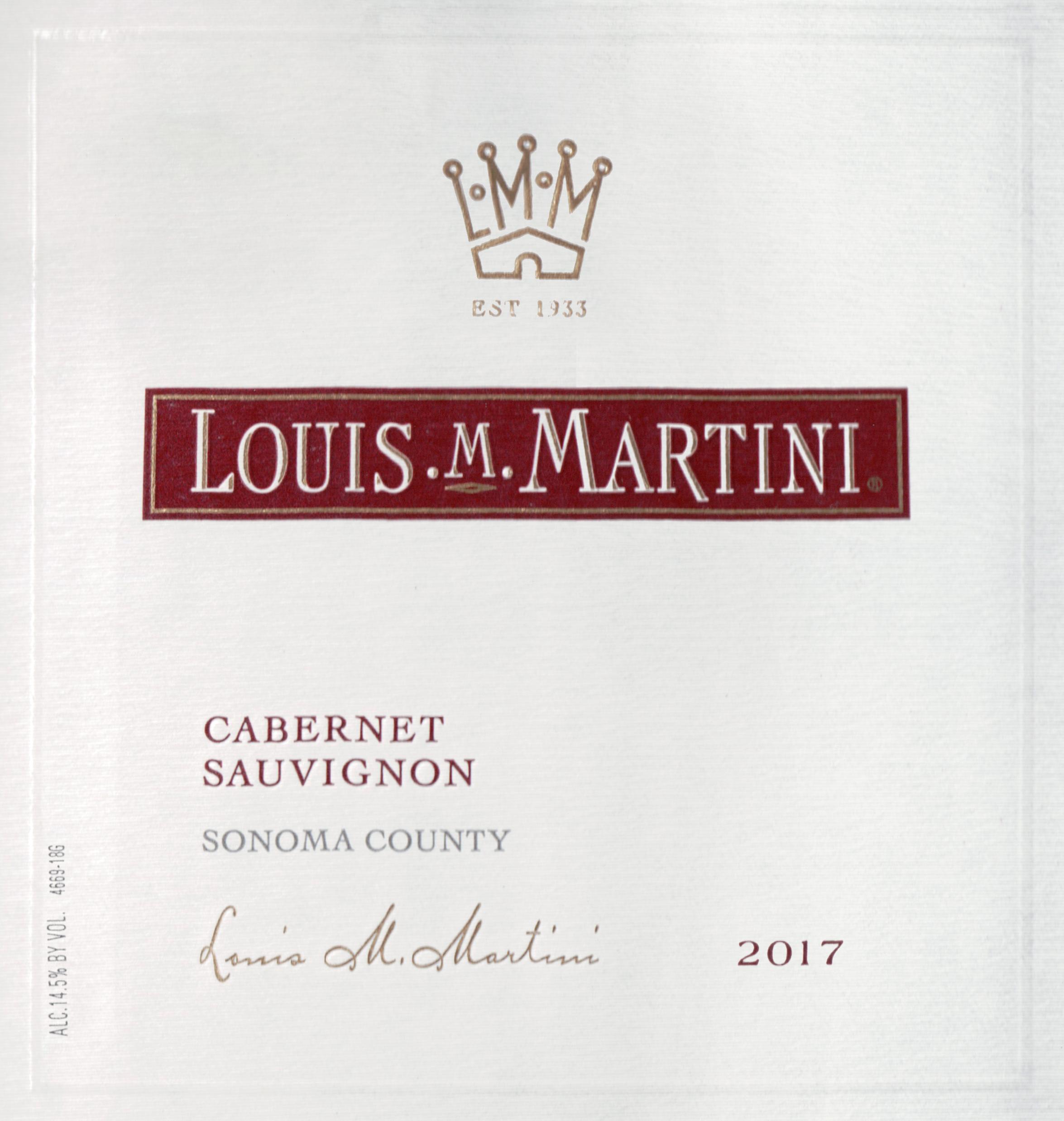 Louis Martini Sonoma Cabernet Sauvignon 2017