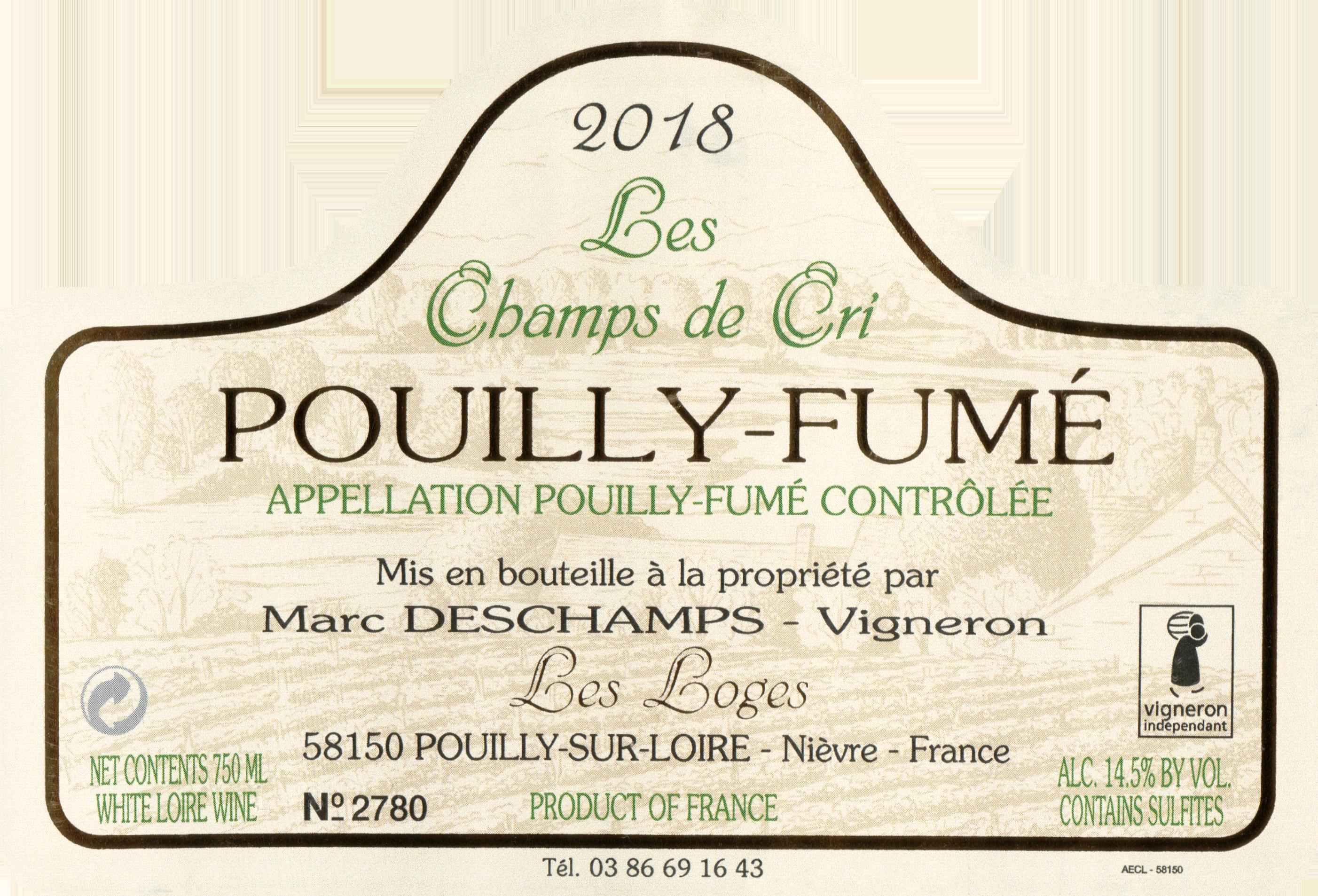 Marc Deschamps Pouilly Fume Les Champs De Cri 2018