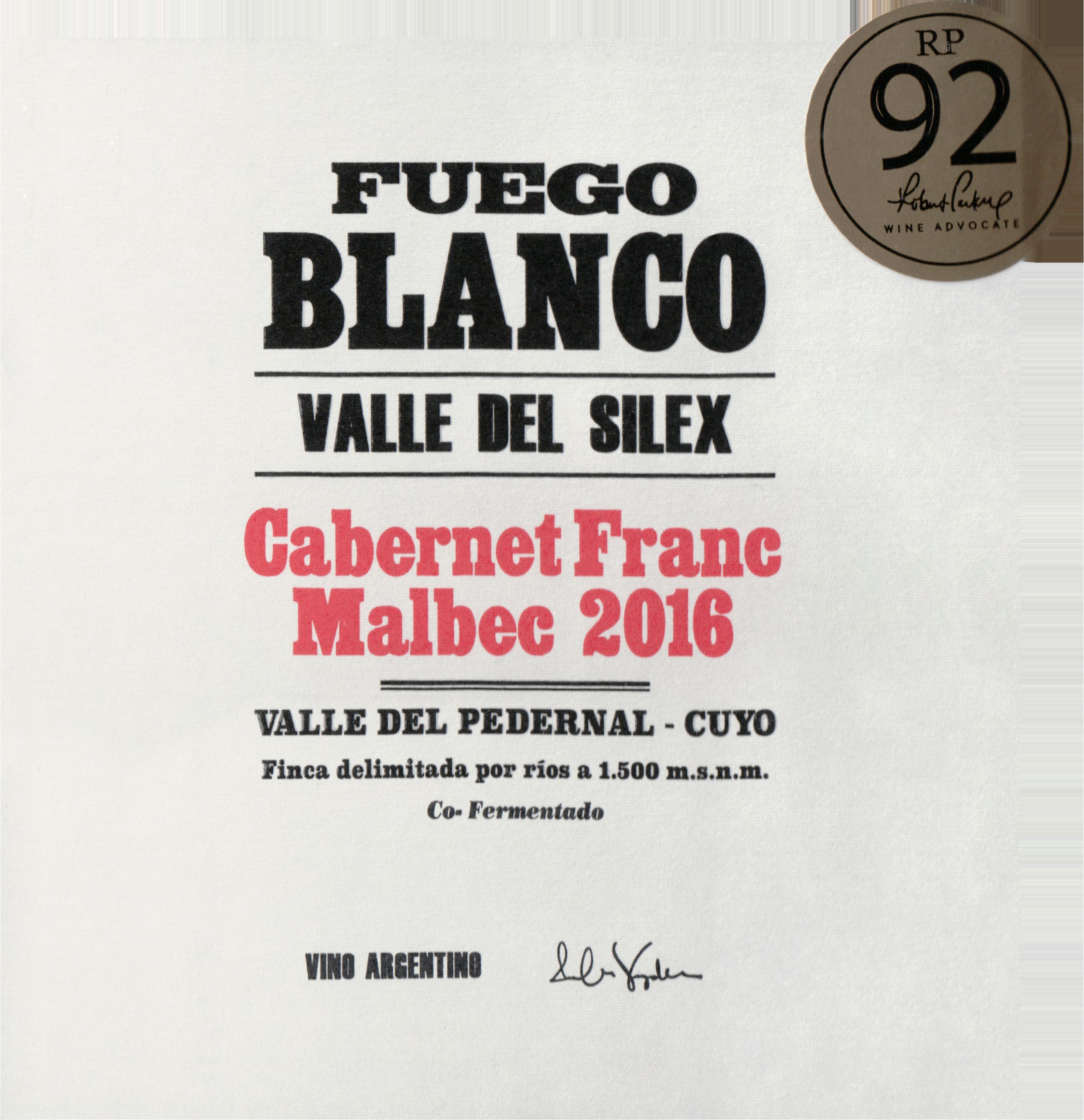 Fuego Blanco Cabernet Franc Malbec 2016
