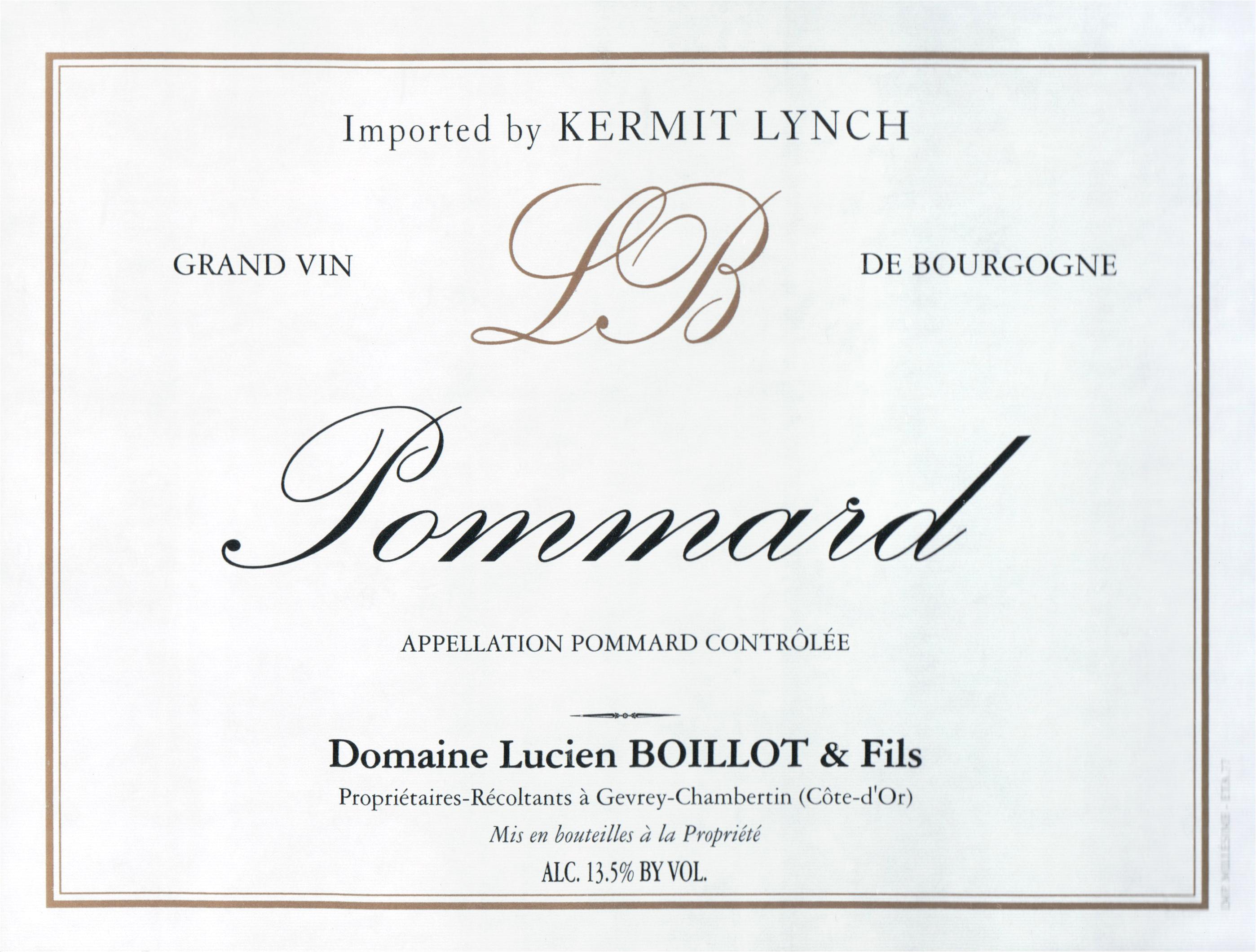 Piere Boillot Pommard 2012