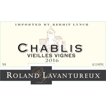 Label shot for 2016 Roland Lavantureux Chablis Vieilles Vignes