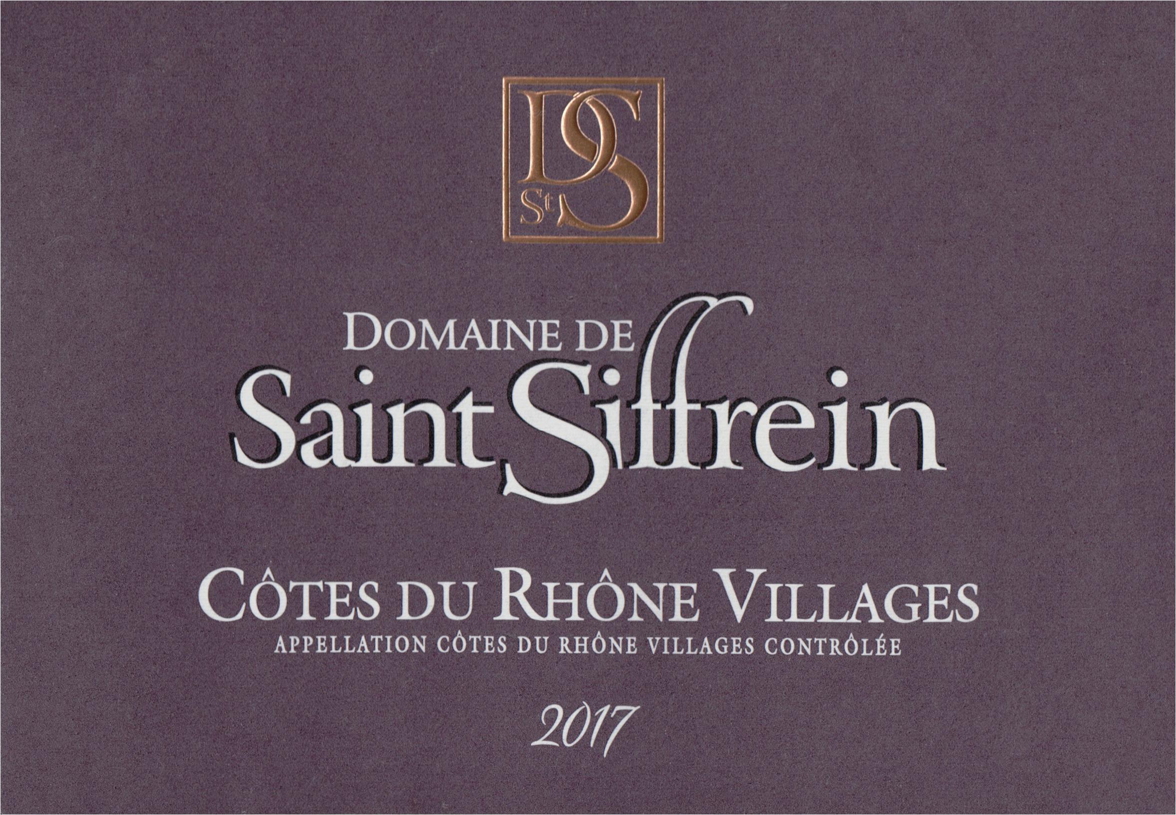 Saint Siffrein Cotes Du Rhone 2017