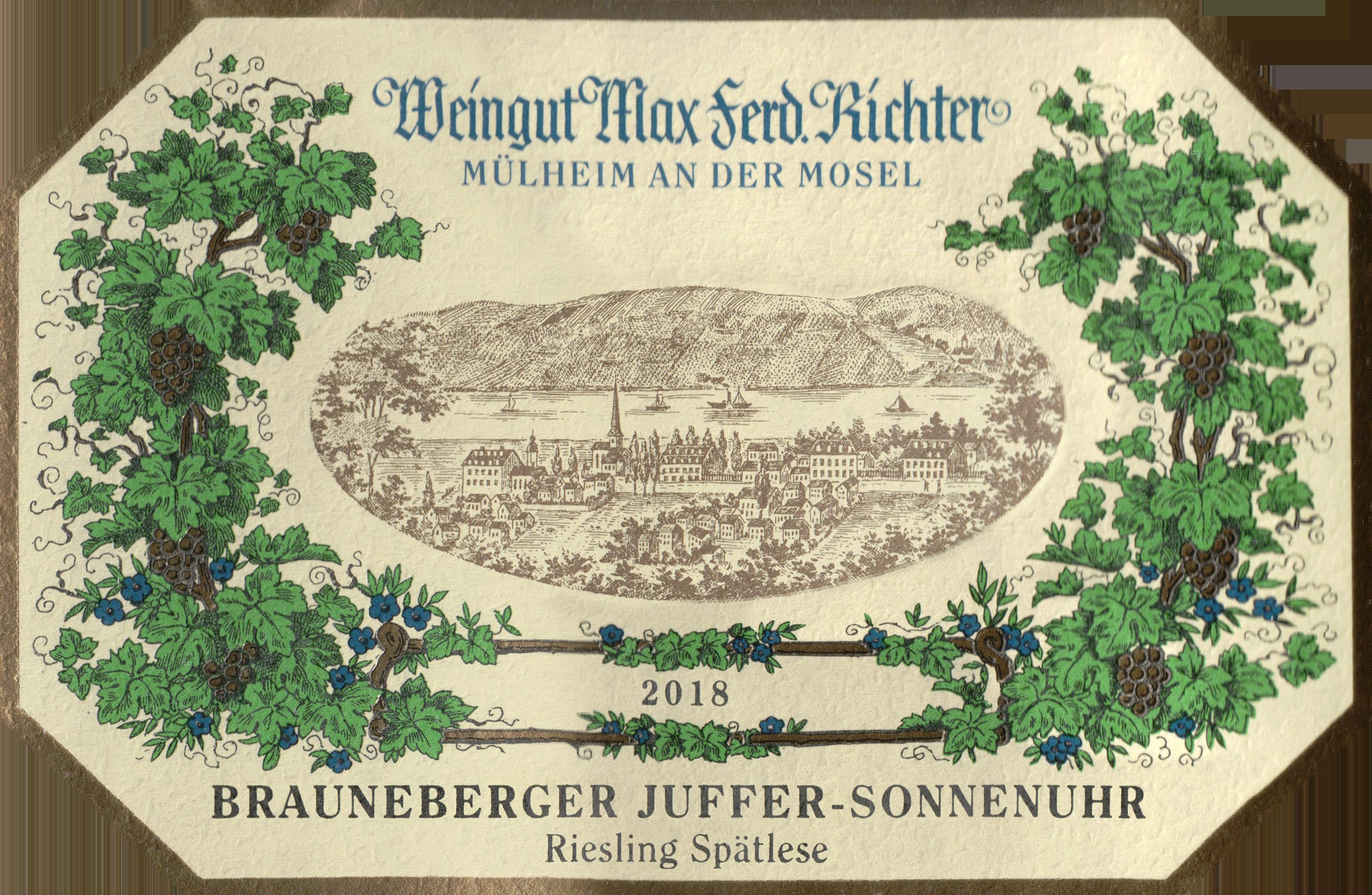 Max Ferd Richter Spatlese Brauneberger Juffer Sonnenuhr Riesling 2018