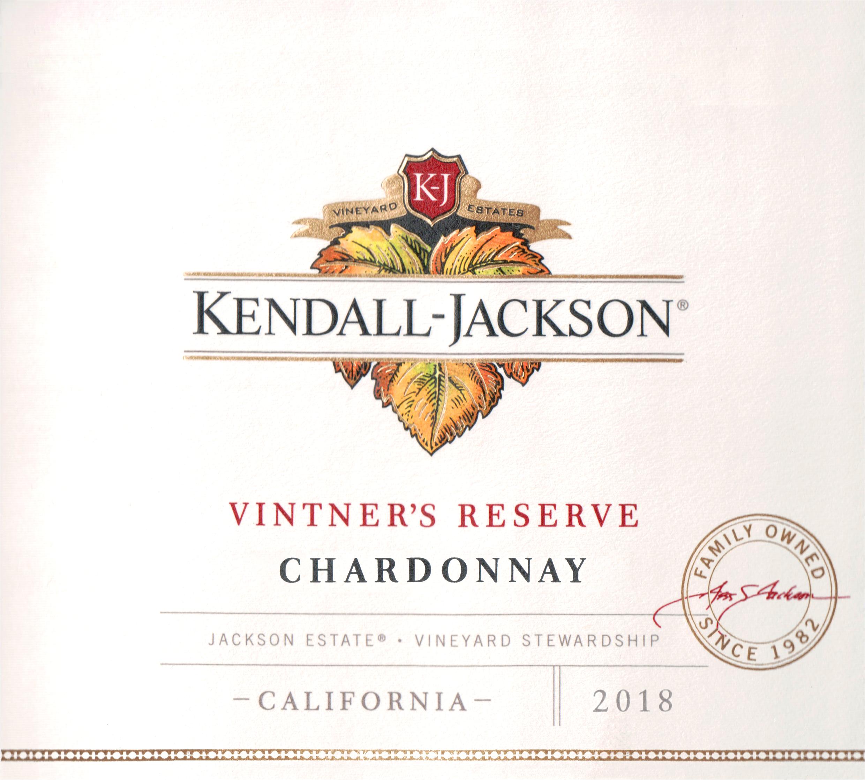 Kendall Jackson Chardonnay Vintners Reserve 2018