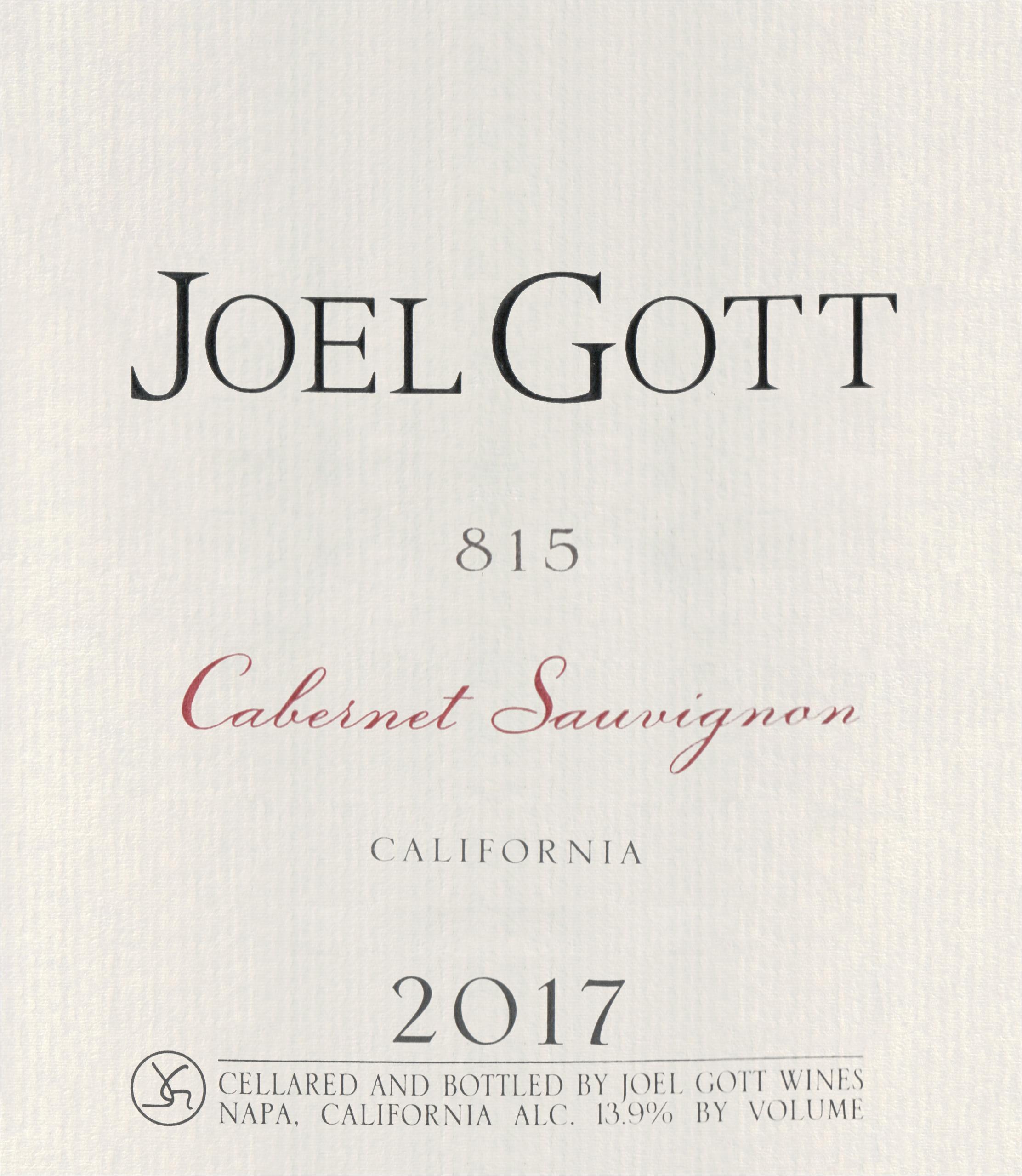 Joel Gott Cabernet Sauvignon 815 2017