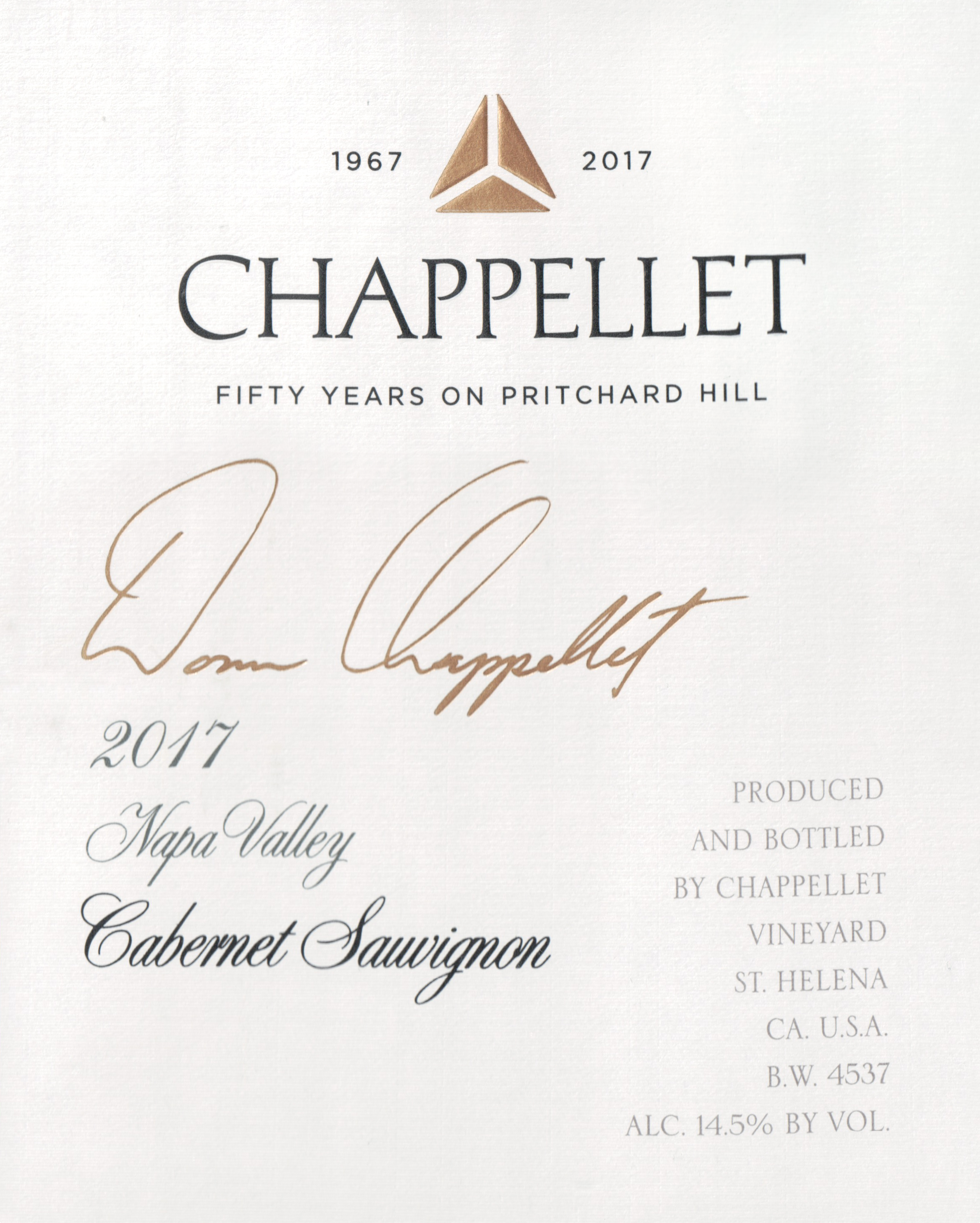 Chappellet Signature Napa Cabernet Sauvignon 2017