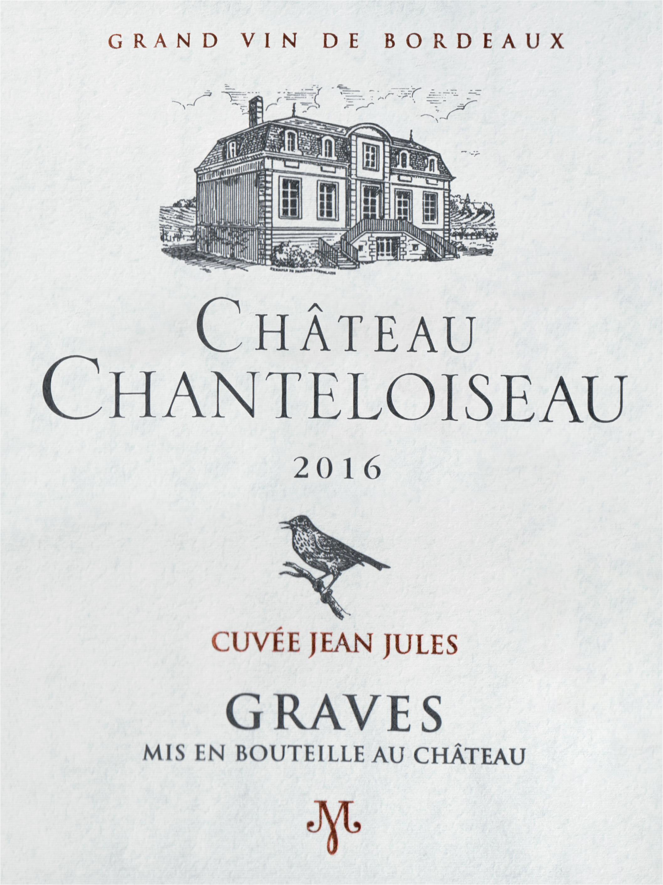 Chateau Chanteloiseau Graves Rouge 2016
