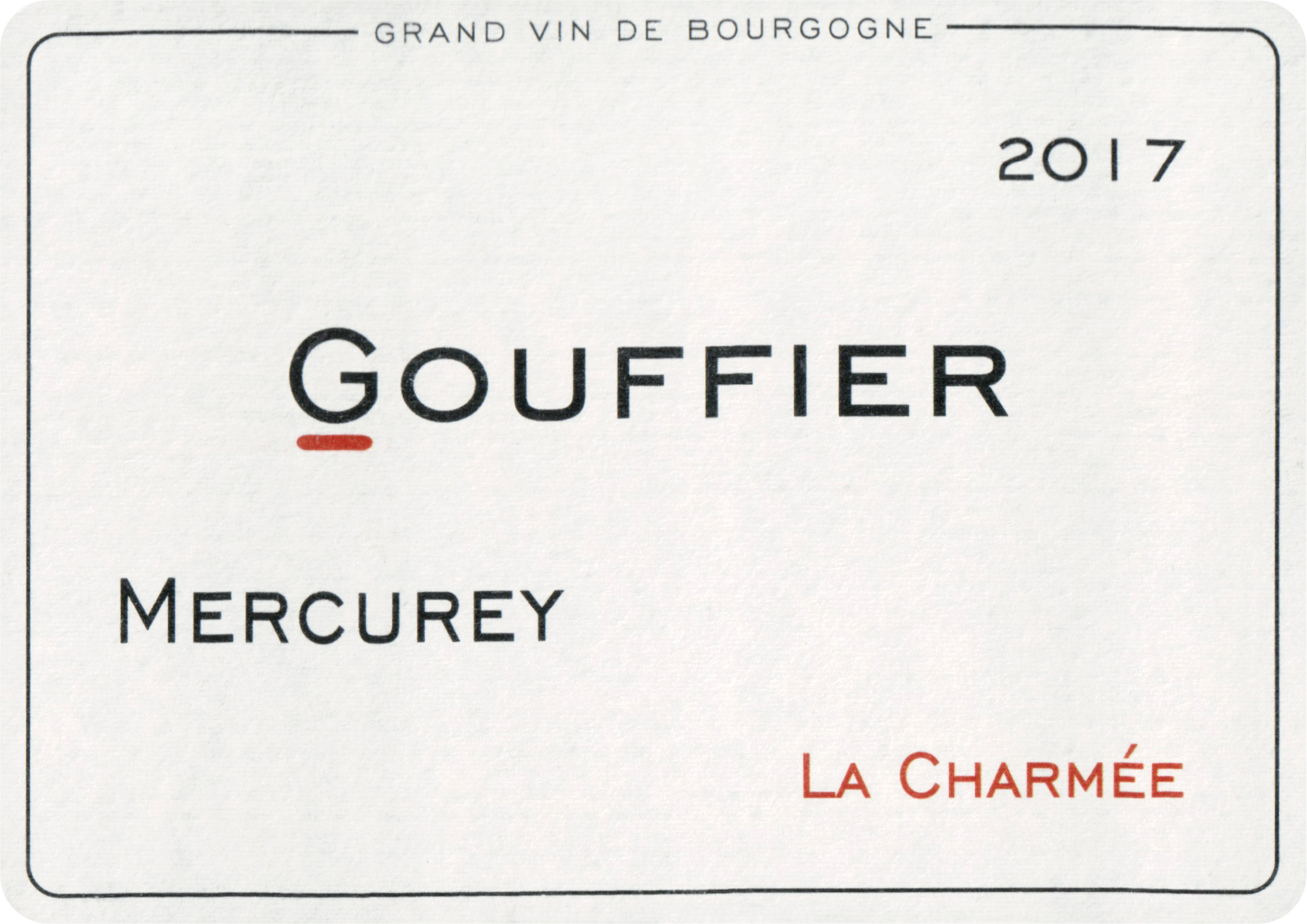 Domaine Goufier Mercurey La Charmee 2017
