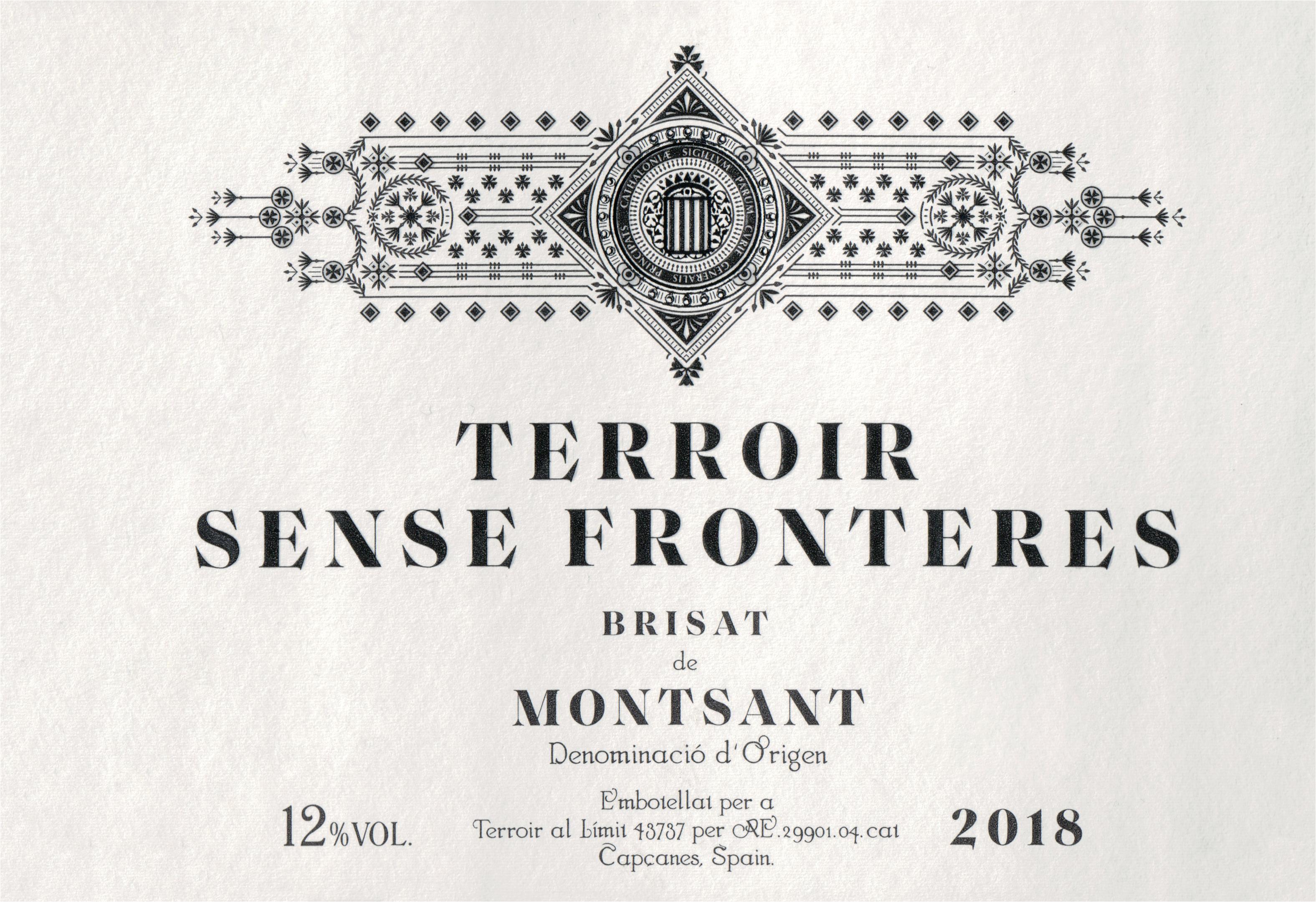 Terroir Sense Fronteres Birsat De Montsant 2018