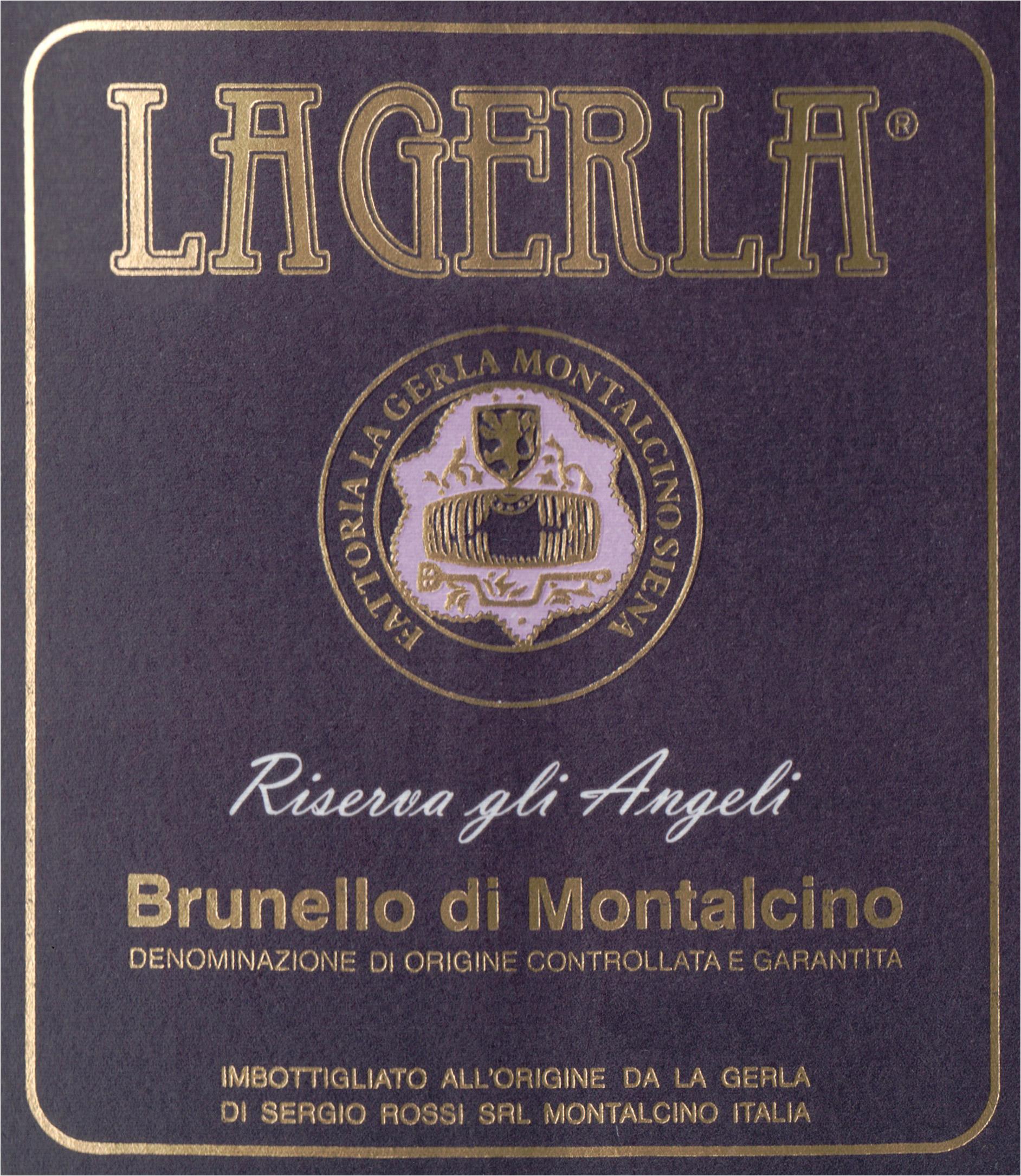 La Gerla Brunello Di Montalcino Riserva Angeli 2011