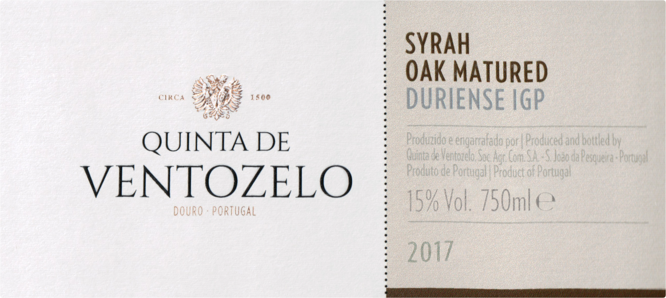 Quinta De Ventozelo Oak Matured Syrah 2017