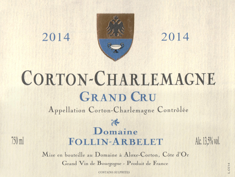 Follin Arbelet Corton Charlemagne Grand Cru 2014