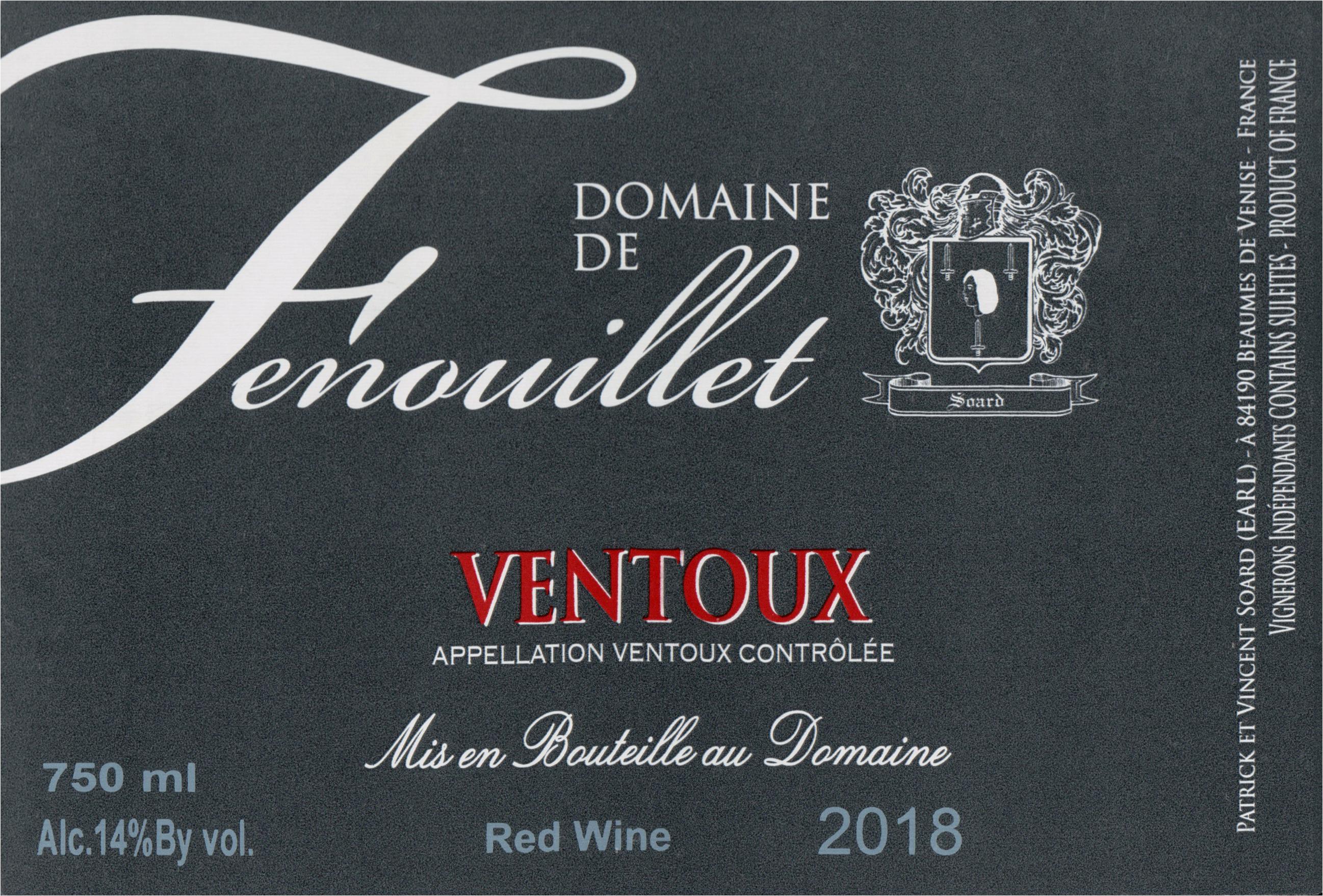 Domaine Fenouillet Ventoux Rouge 2018