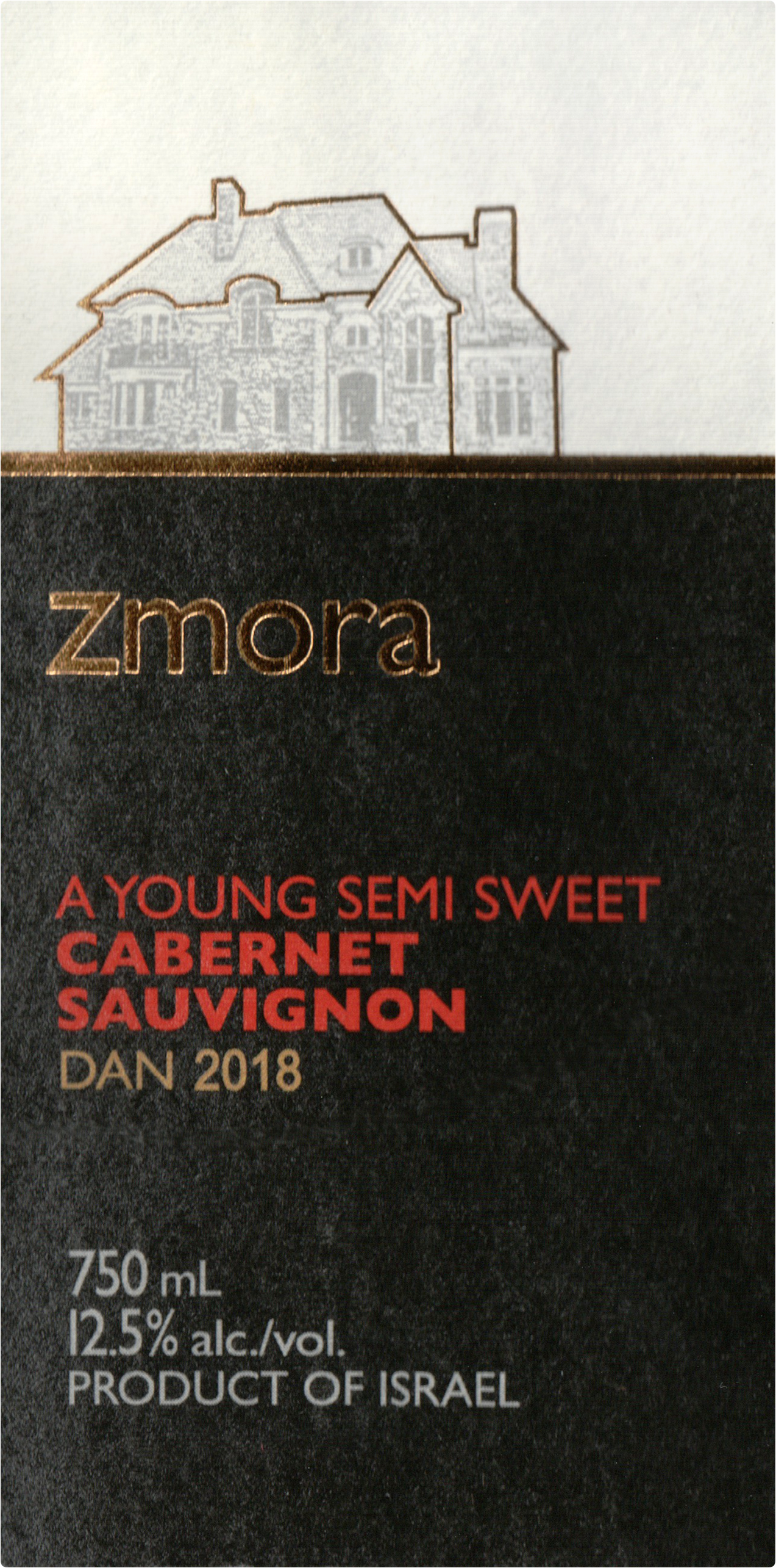 Zmora Semi Sweet Cabernet Sauvignon 2018