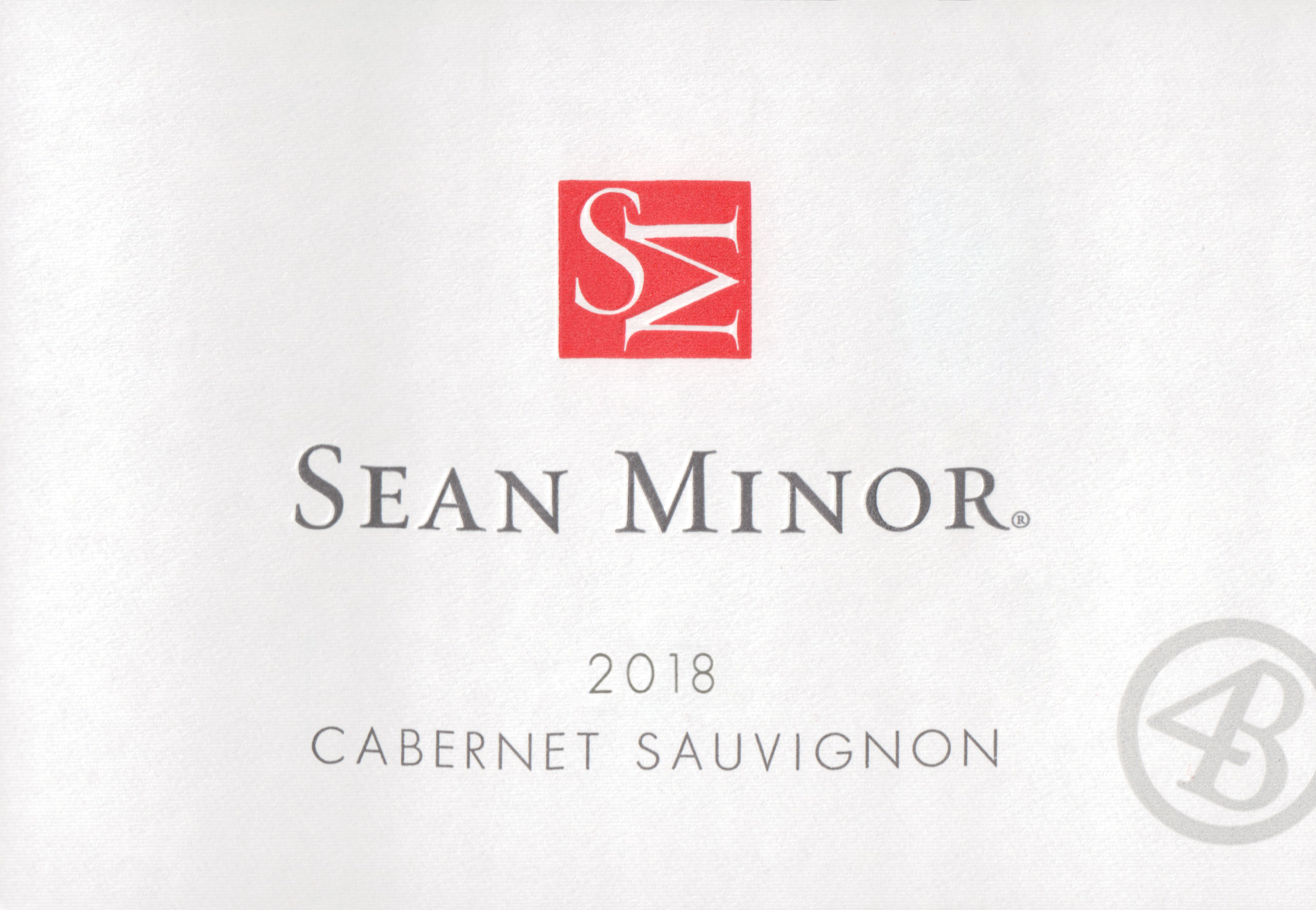 Sean Minor Cabernet Sauvignon 4b Paso Robles 2018