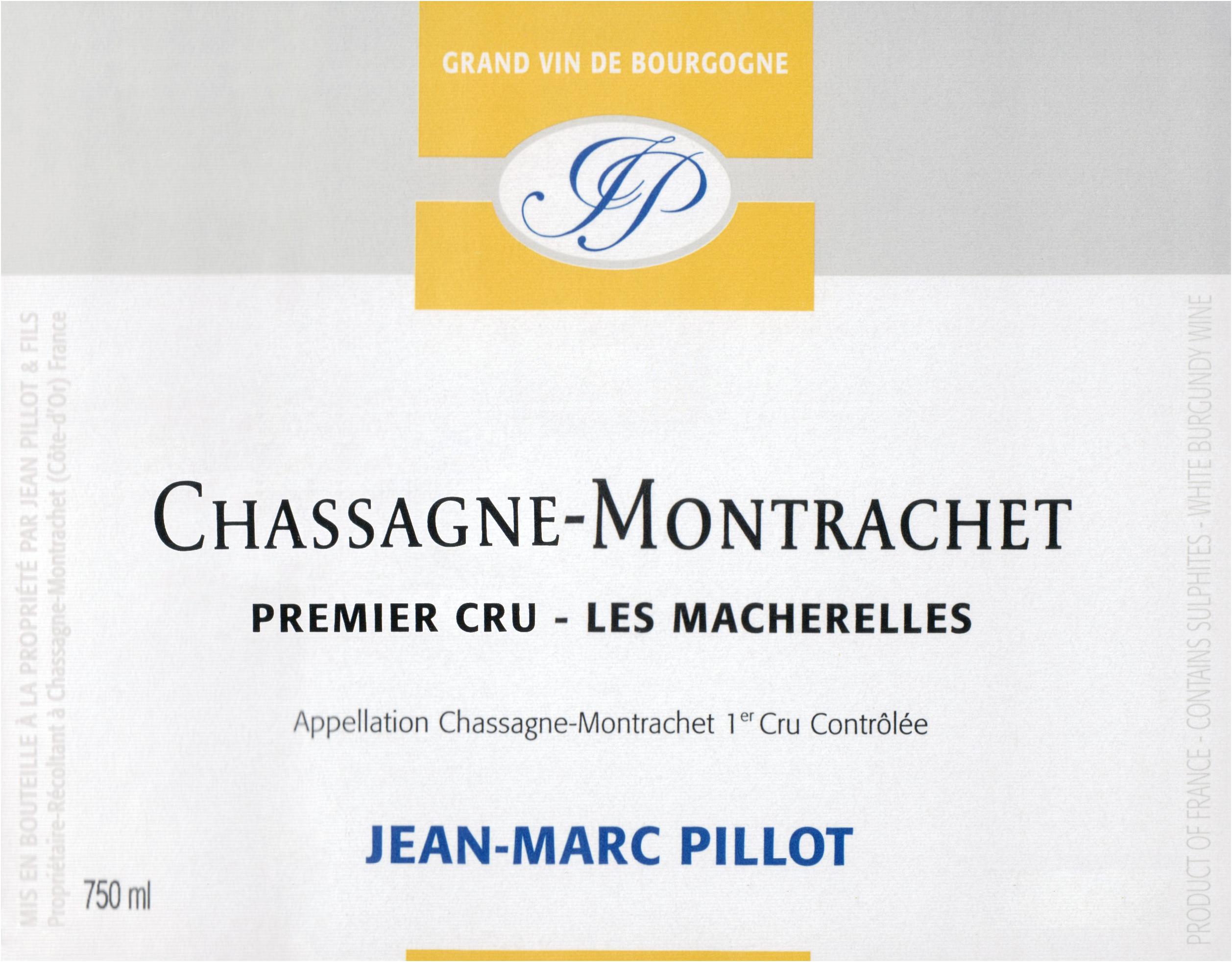 Jean Marc Pillot Macherelles Chassagne Montrachet 1er Cru 2017