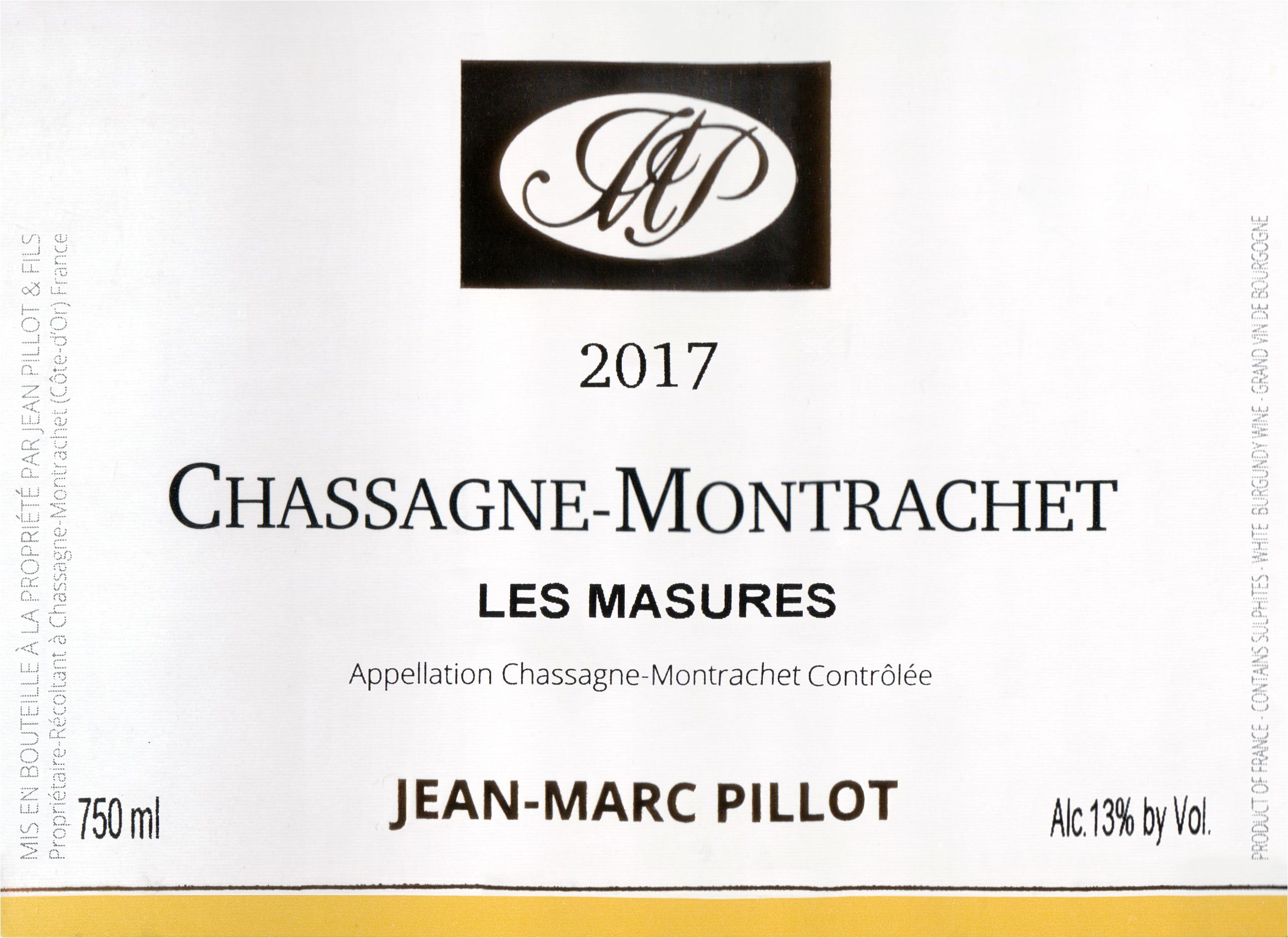 Jean Marc Pillot Chassagne Montrachet Les Masures 2017