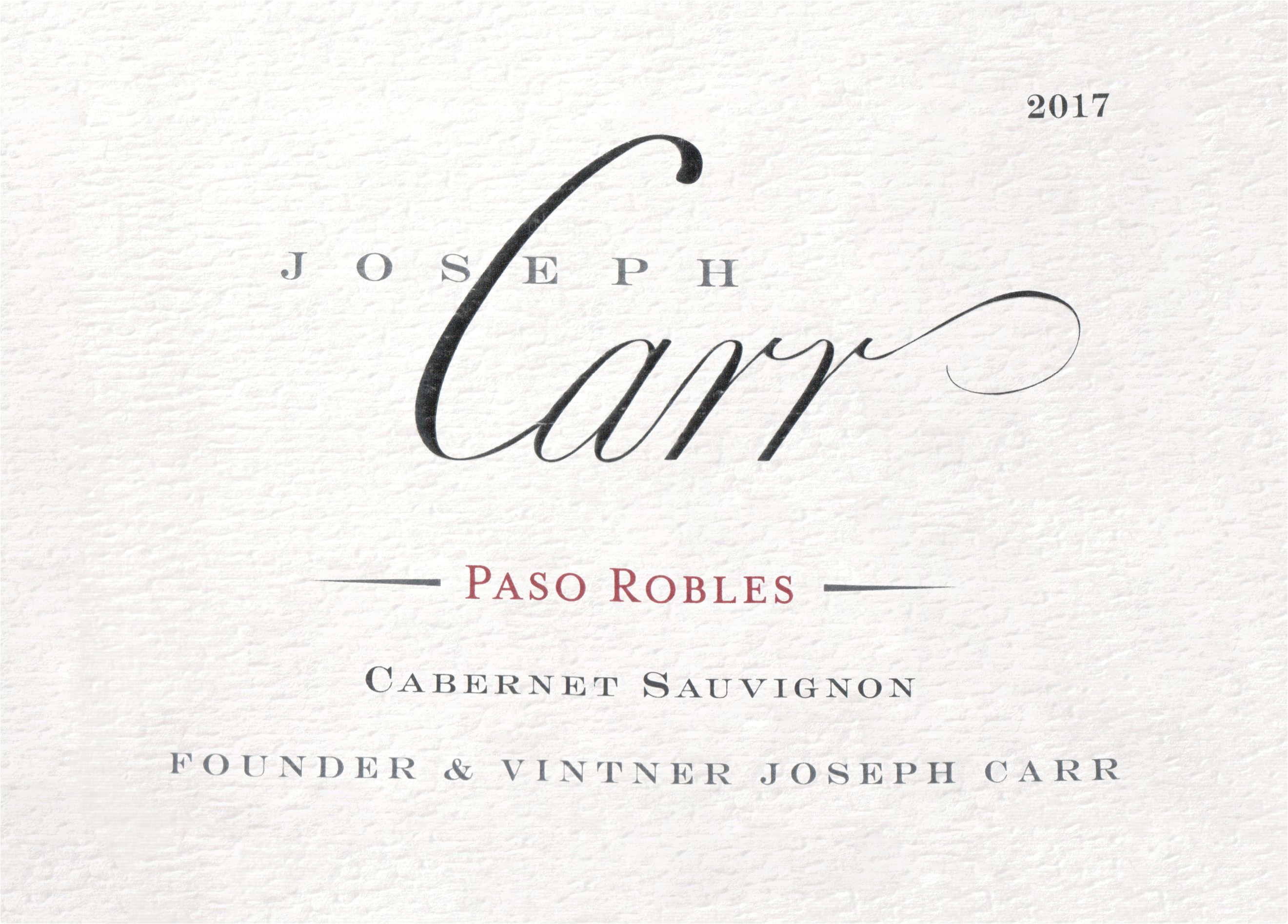 Joseph Carr Paso Robles Cabernet Sauvignon 2017