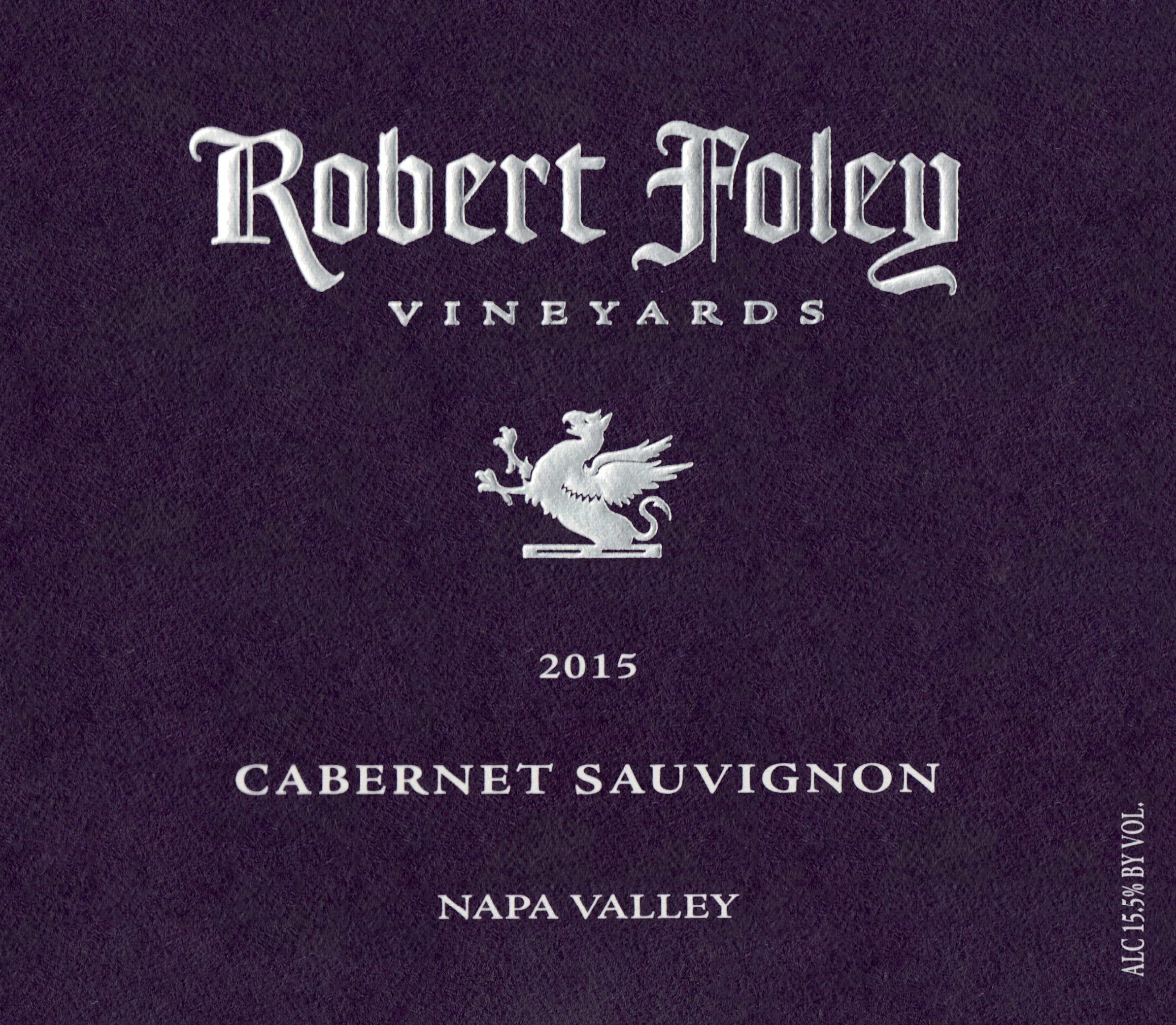 Robert Foley Vineyards Cabernet Sauvignon Napa 2015