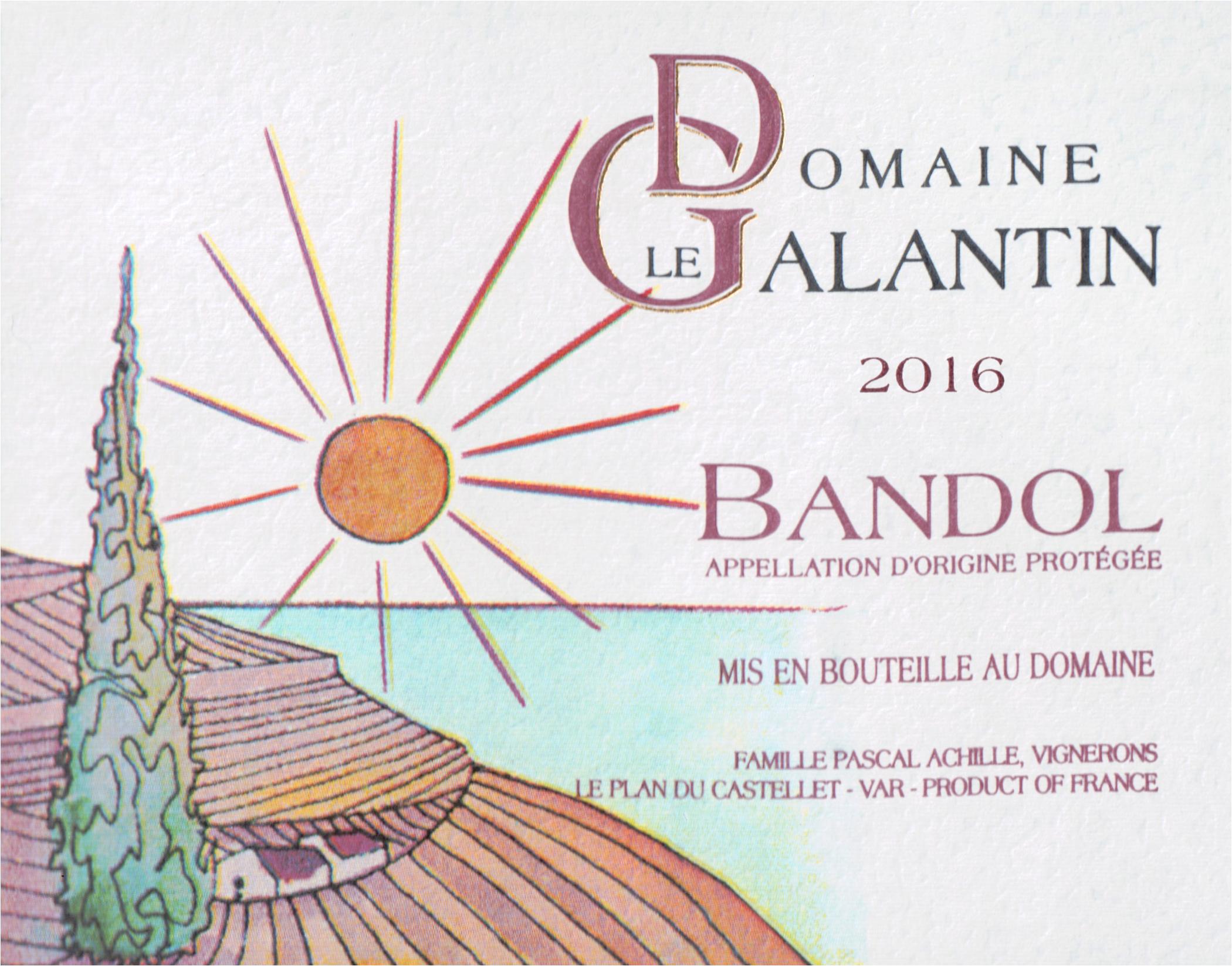 Domaine Le Galantin Bandol Rouge 2016