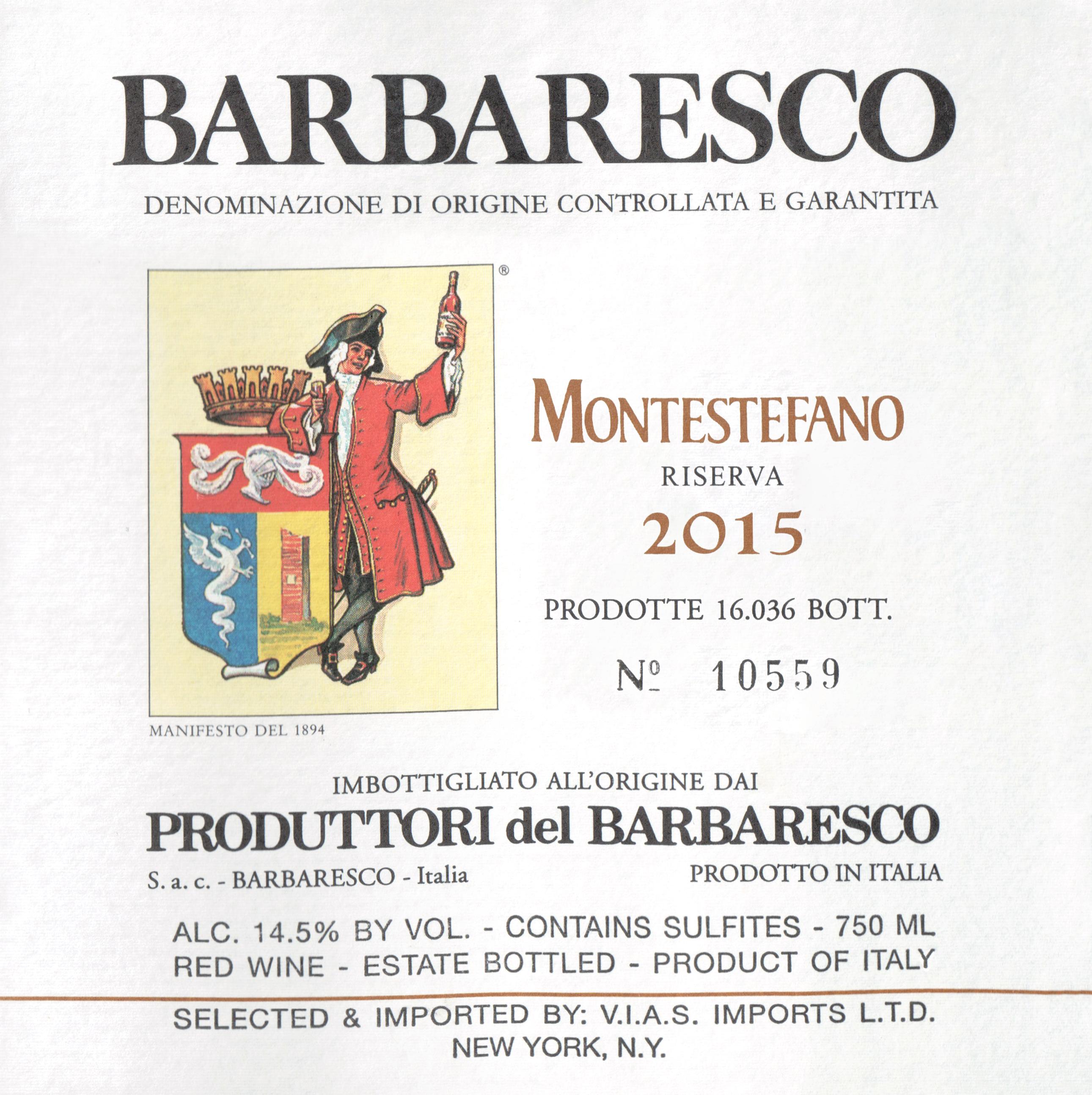 Produttori Montestefano Del Barbaresco Riserva 2015