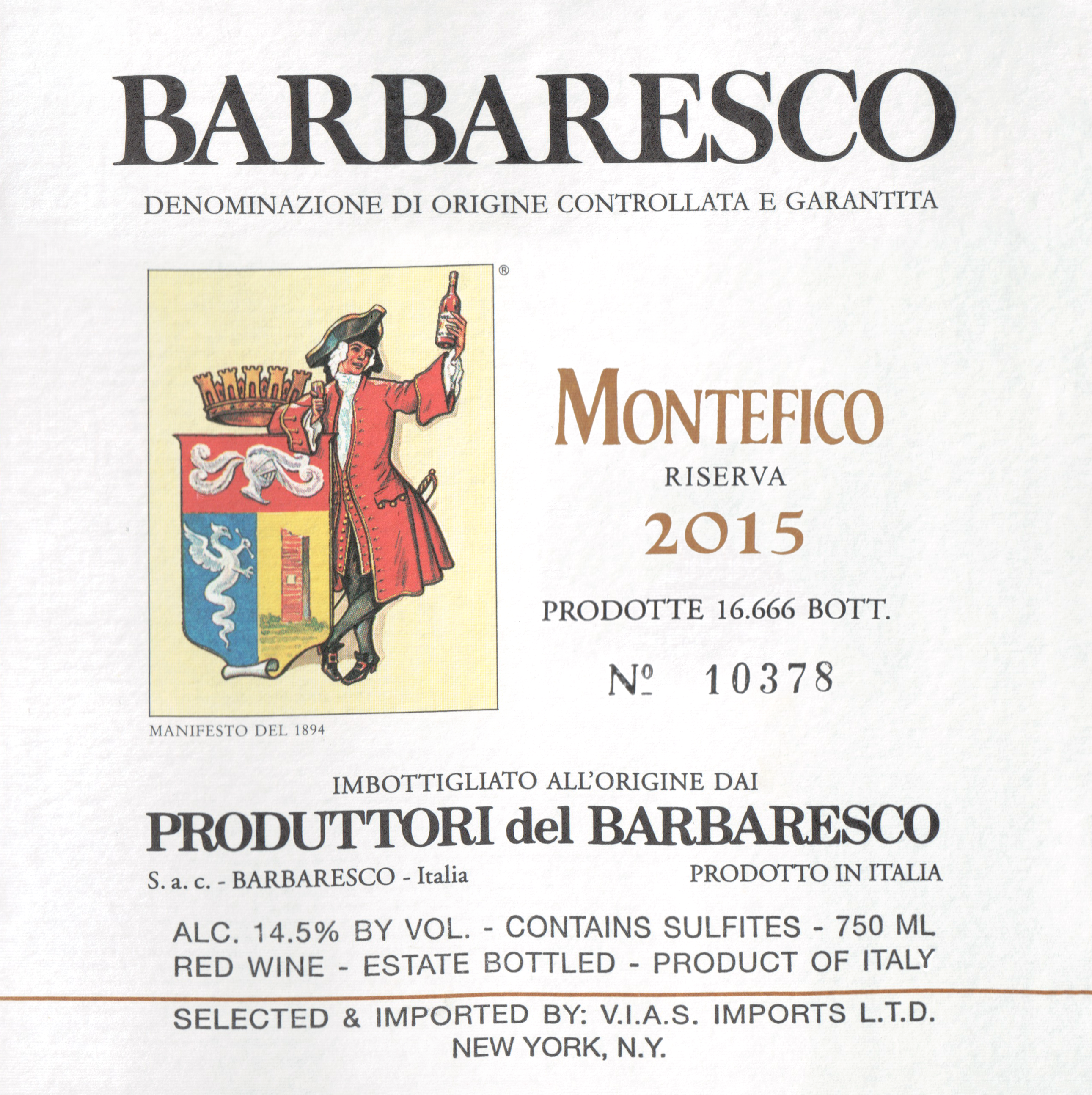 Produttori Montefico Del Barbaresco Riserva 2015