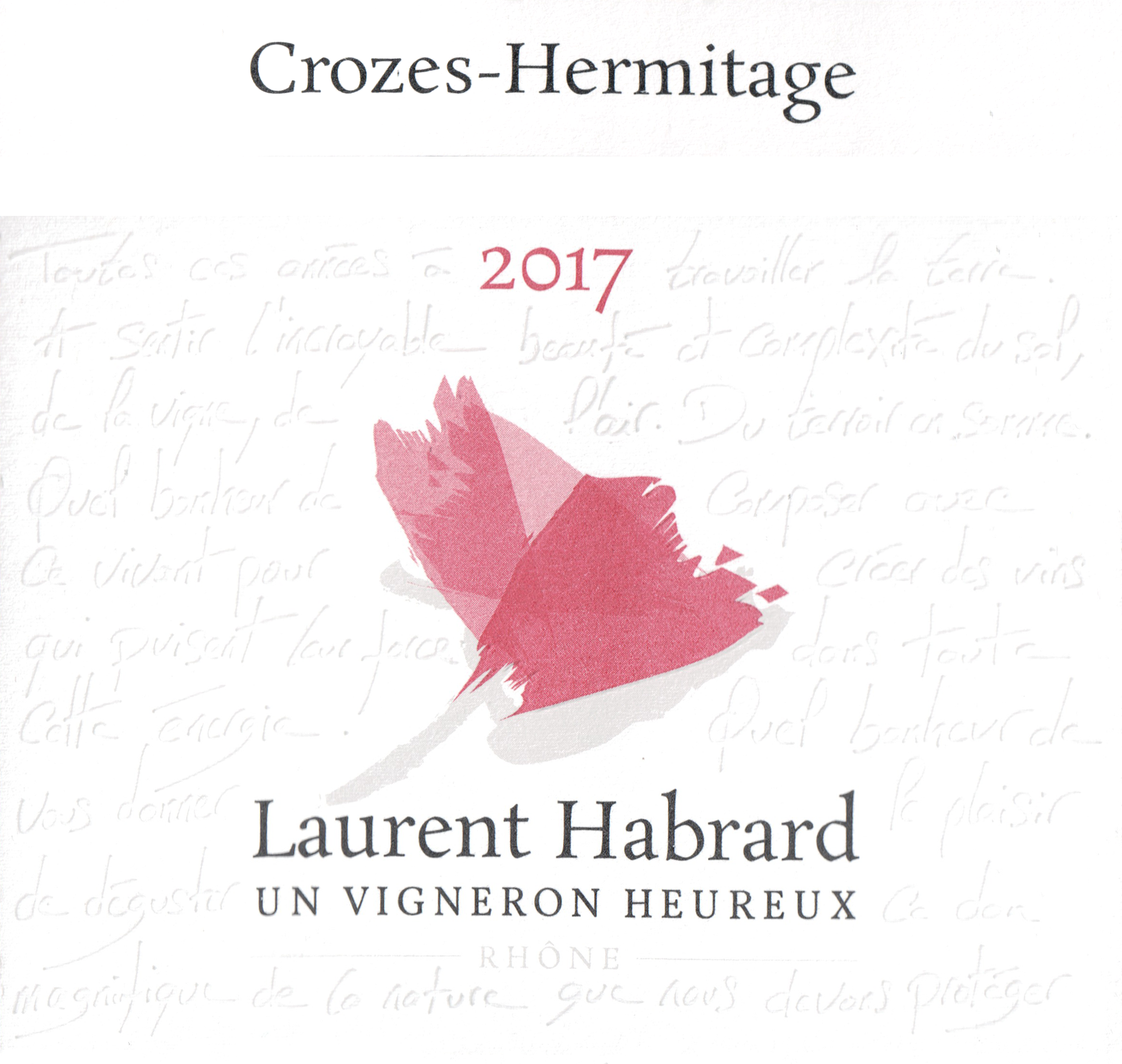 Laurent Habrard Crozes Hermitage 2017