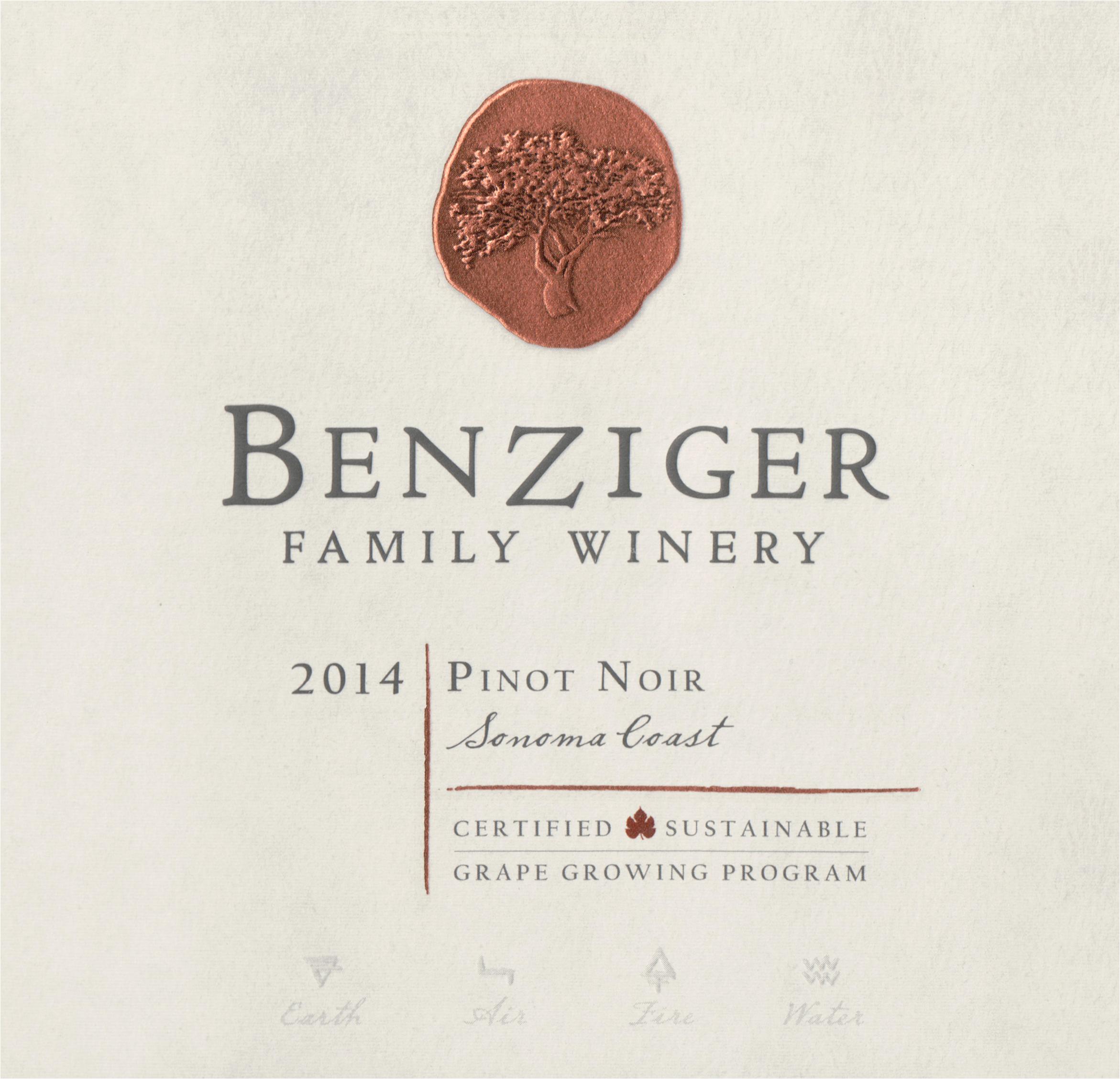 Benziger Pinot Noir Sonoma Coast 2014