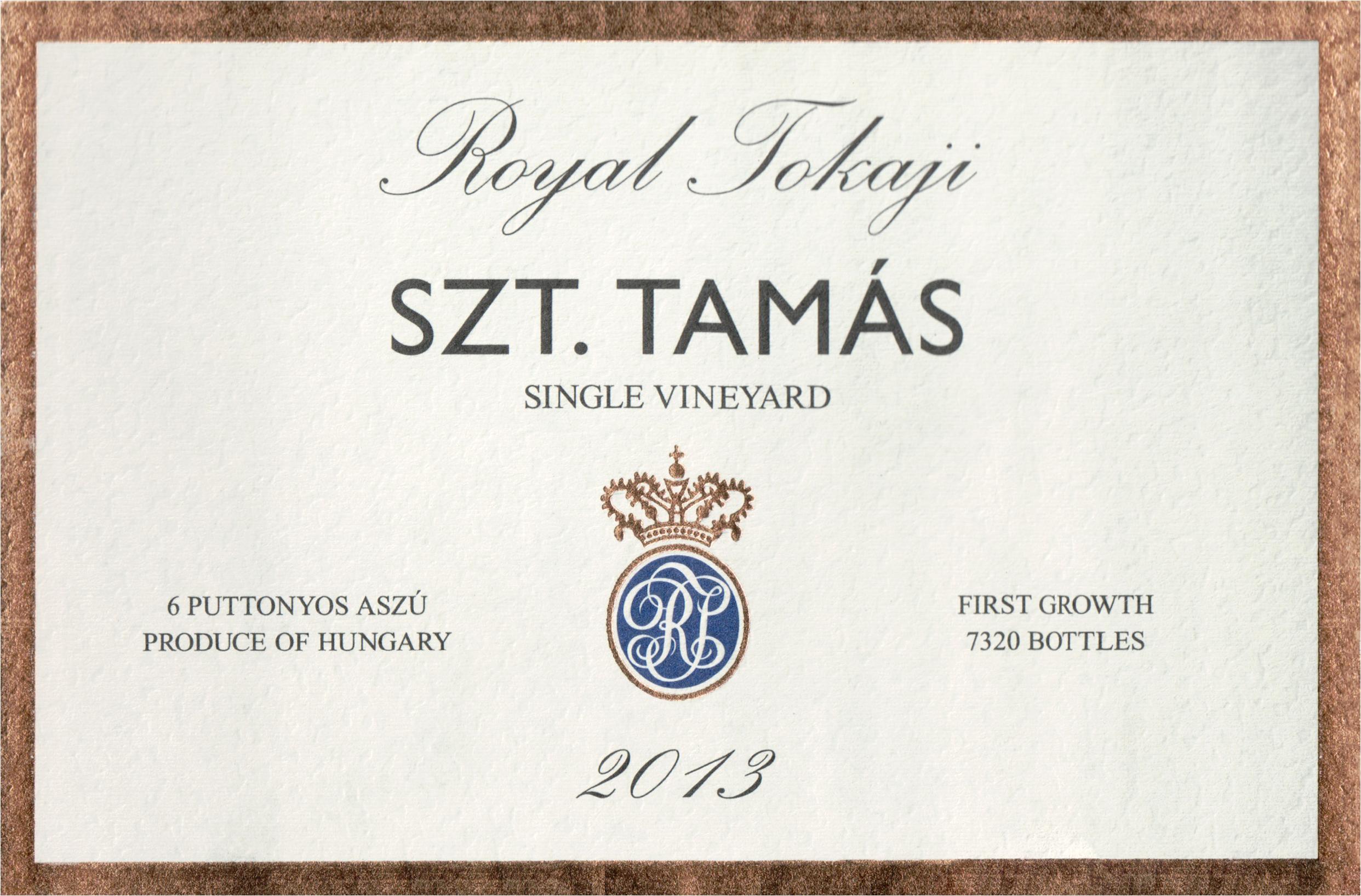 Royal Tokaji Szt. Tamas Single Vineyard 6 Puttonyos Aszu 2013