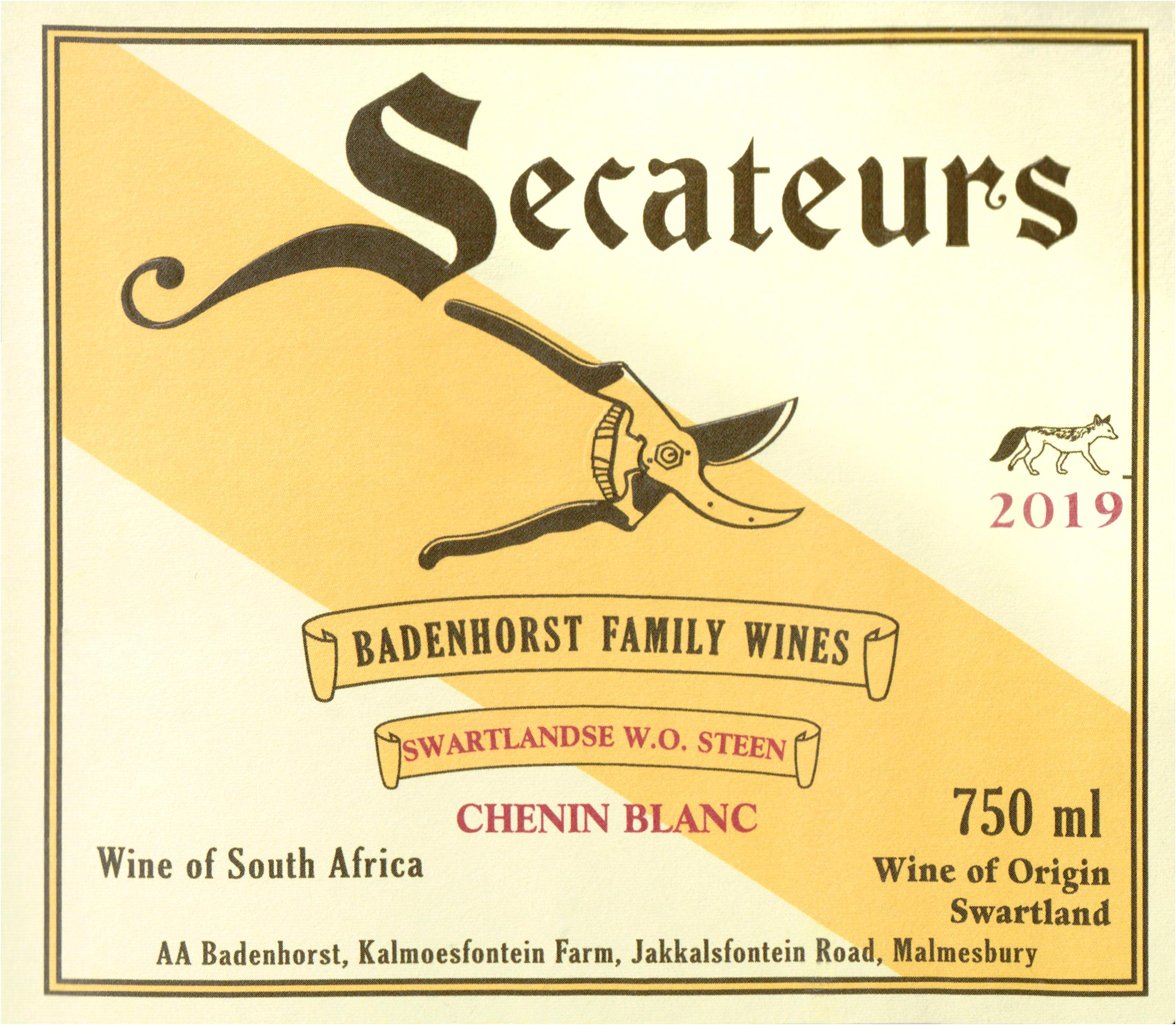Badenhorst Chenin Blanc Secateurs 2019