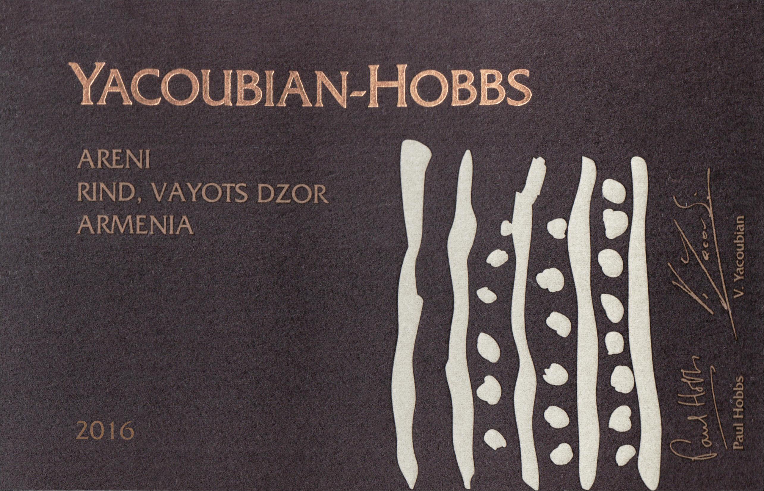 Yacoubian Hobbs Rin Areni 750m 2016