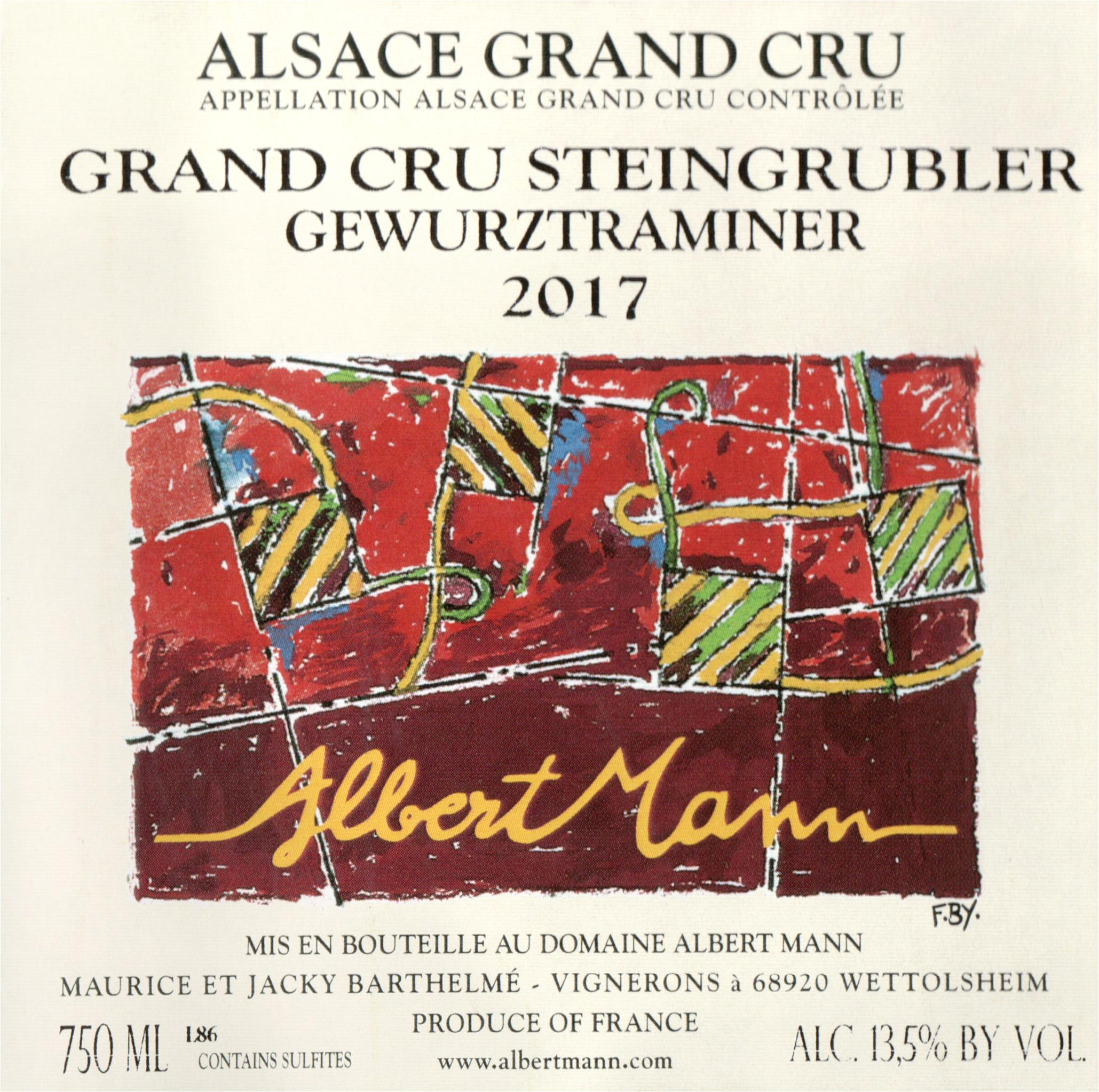 Albert Mann Steingrubler Gewurztraminer Grand Cru 2017