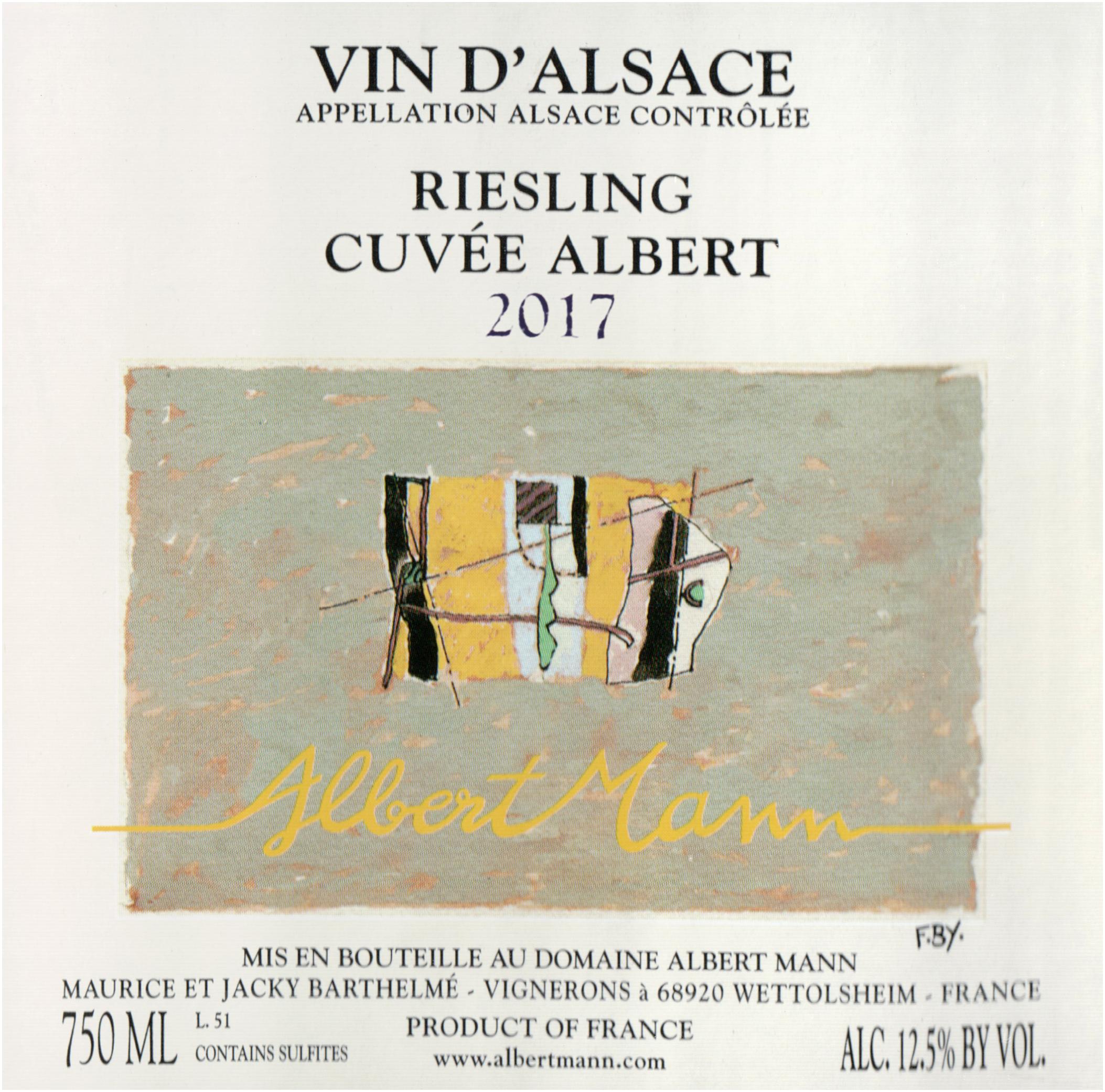 Albert Mann Riesling Cuvee Albert 2017