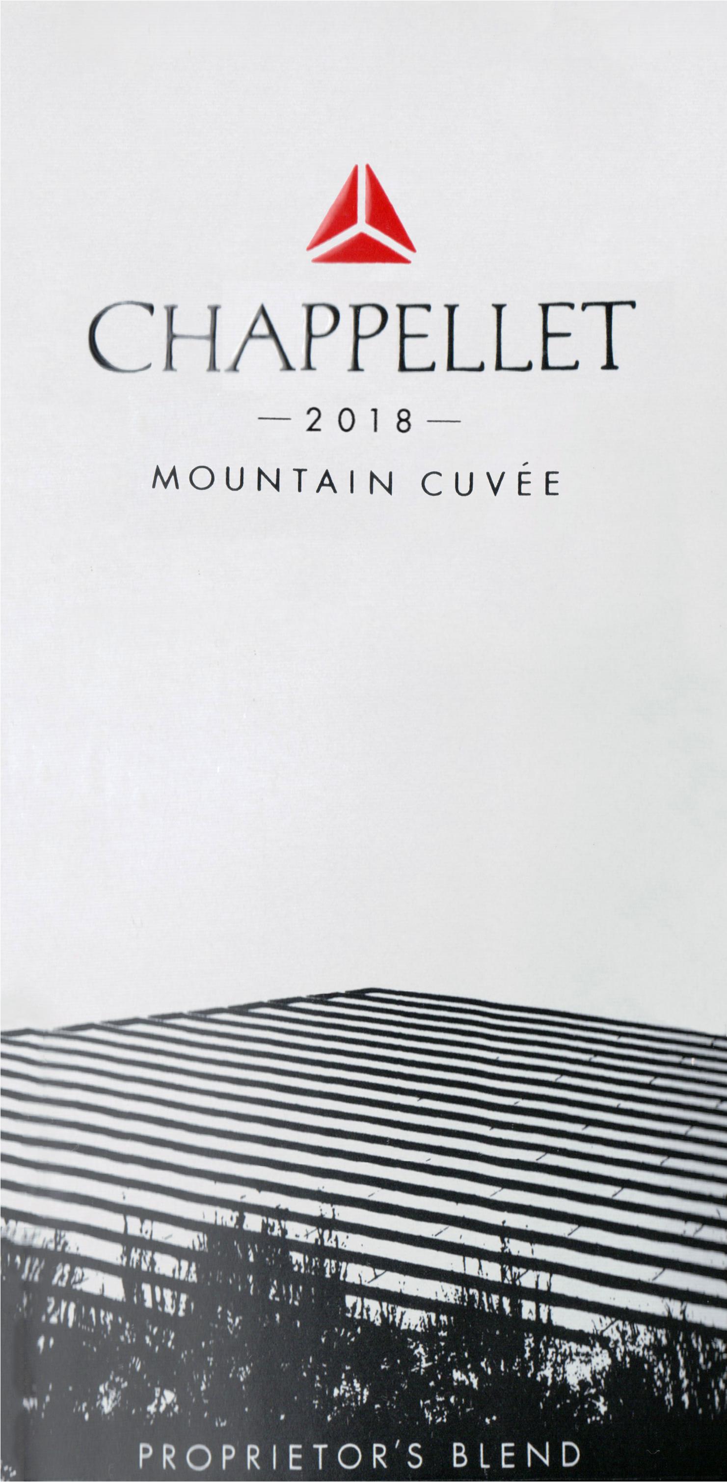 Chappellet Mt Cuvee 2018