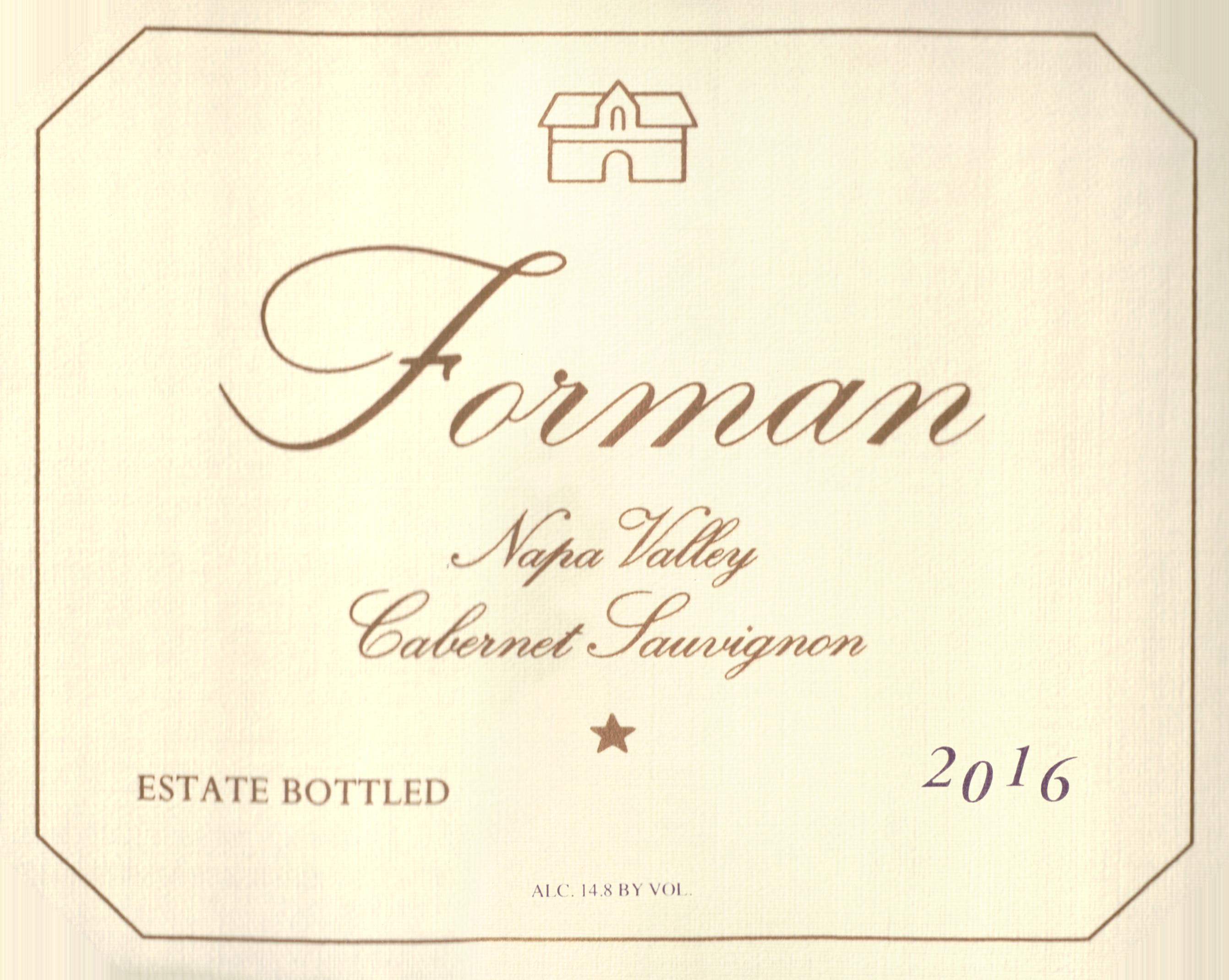 Forman Vineyard Cabernet Sauvignon Napa Valley 2016
