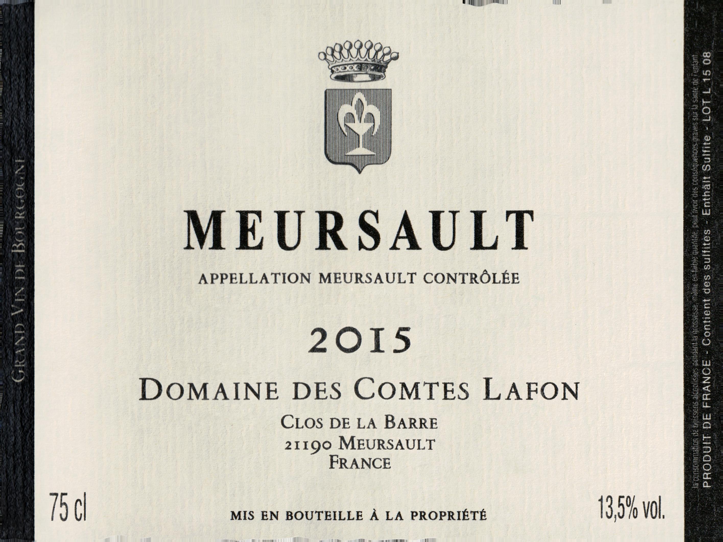 Domaine Des Comtes Lafon Meursault 2015