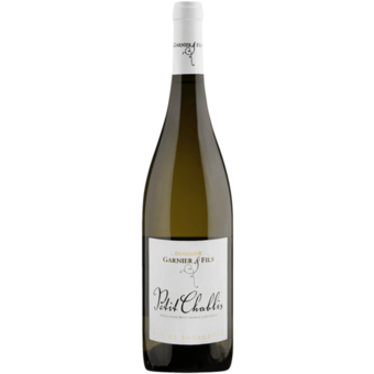 Bottle shot for 2018 Garnier & Fils Petit Chablis