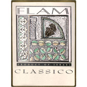 Label shot for  Flam Classico Red Judean Hills