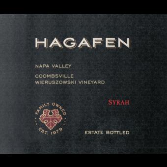 Label shot for  Hagafen Syrah (U)